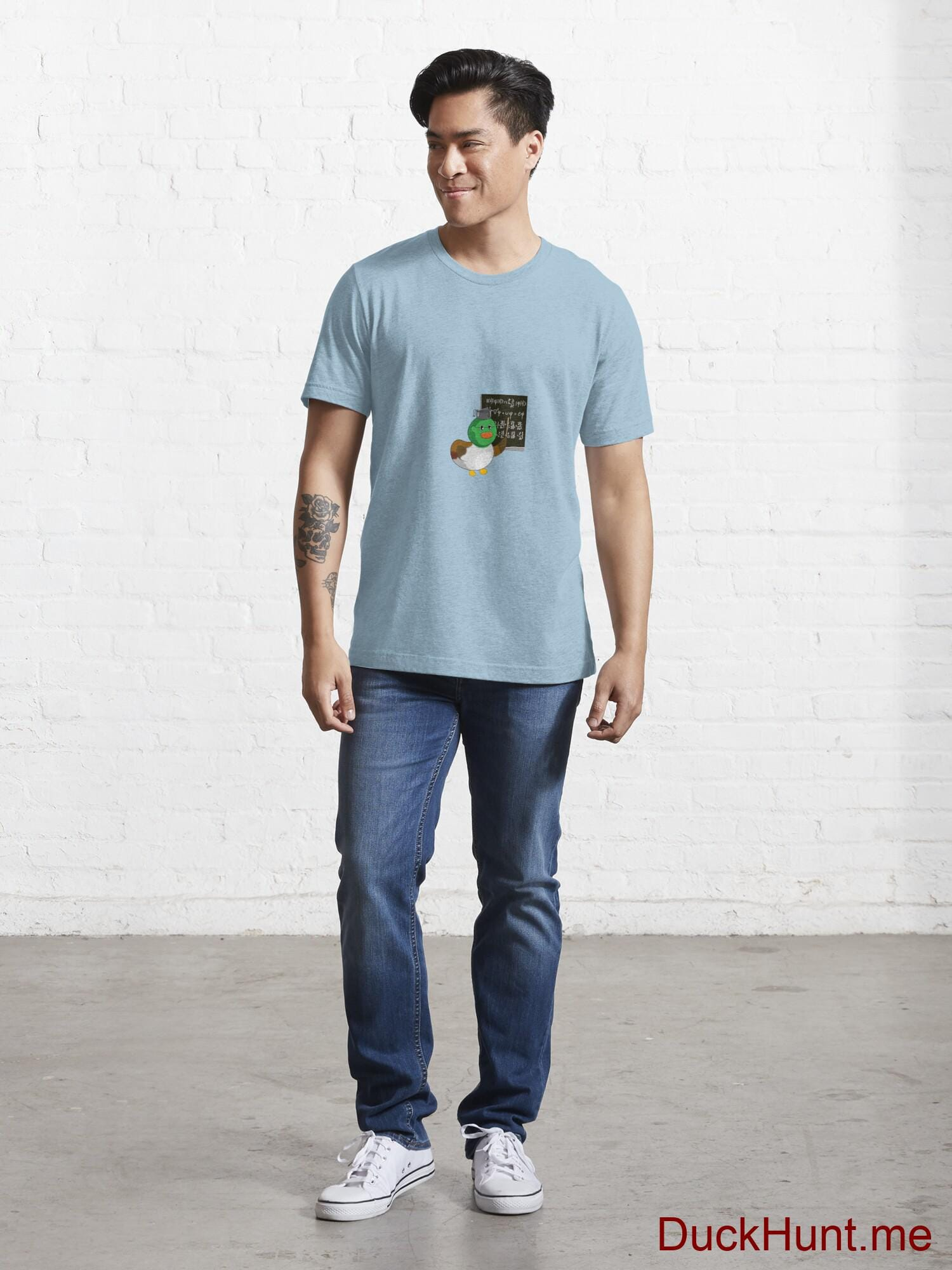 Prof Duck Light Blue Essential T-Shirt (Front printed) alternative image 4