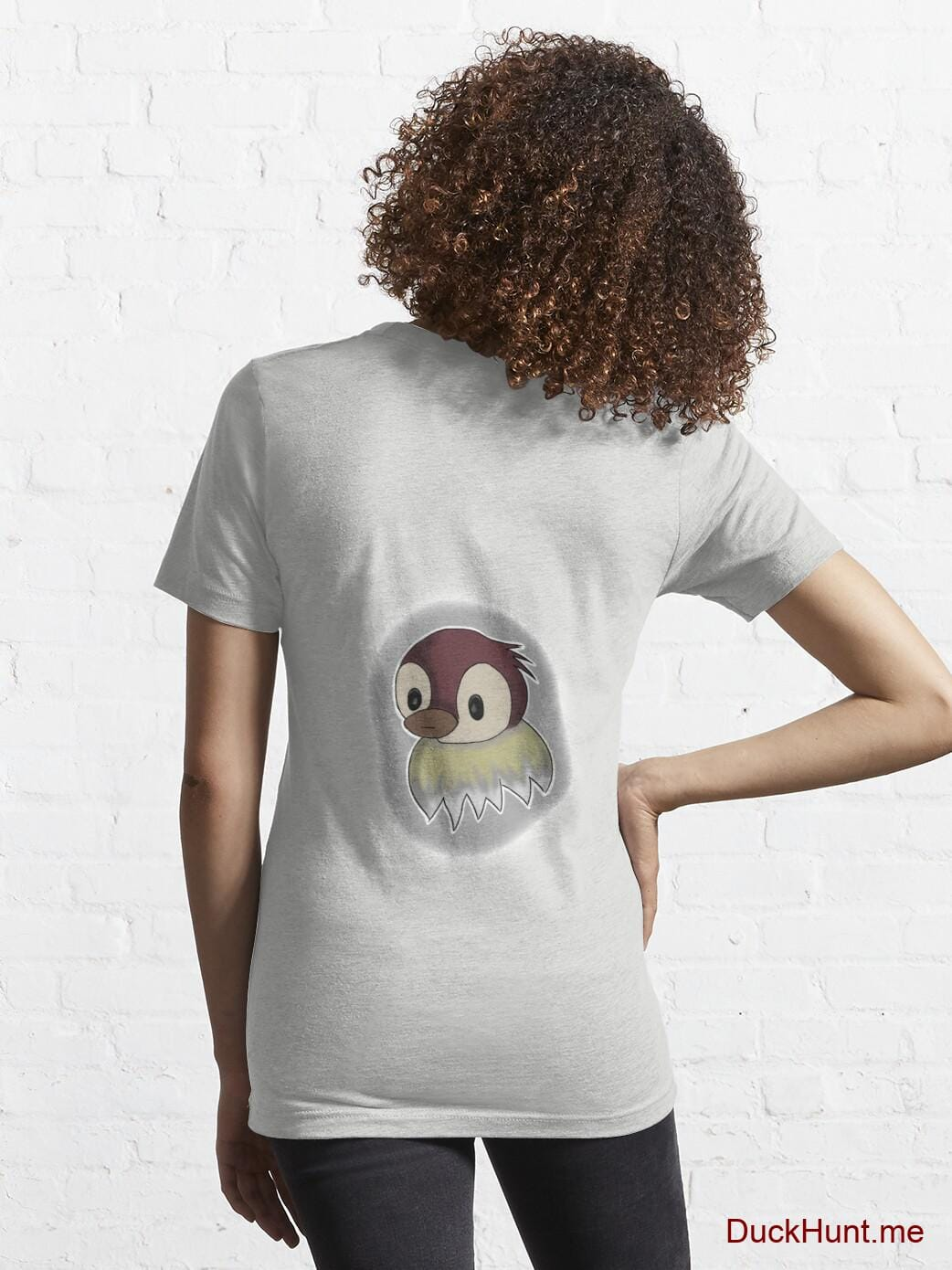 Ghost Duck (foggy) Light Grey Essential T-Shirt (Back printed) alternative image 4