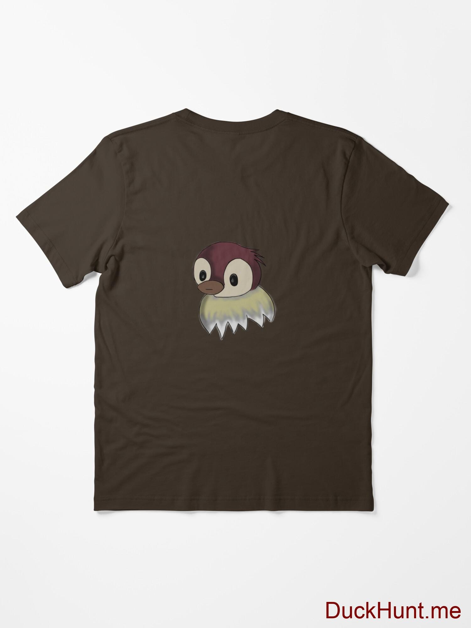 Ghost Duck (fogless) Brown Essential T-Shirt (Back printed) alternative image 1