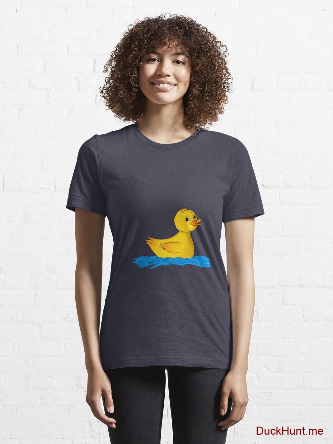 Plastic Duck Dark Blue Essential T-Shirt (Front printed) alternative image 5