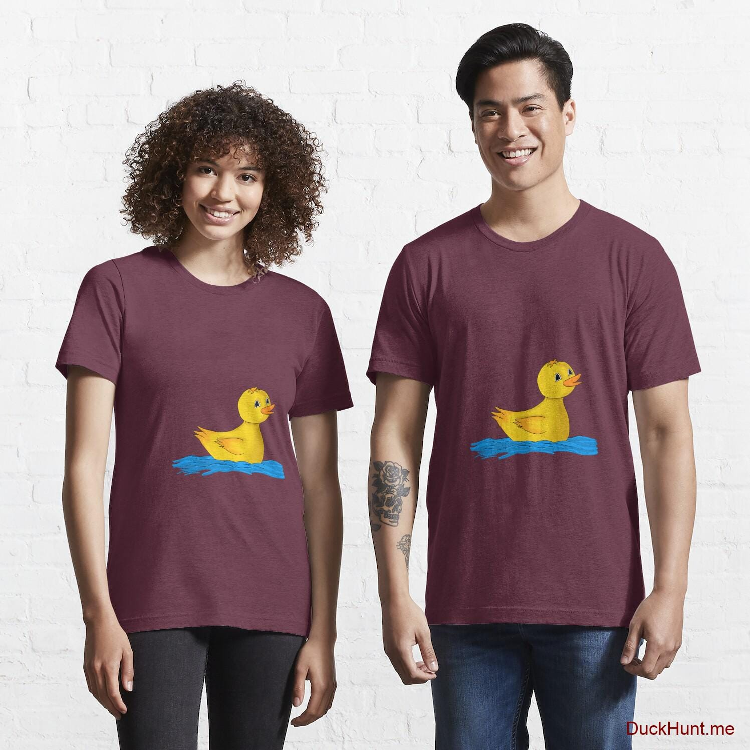 Plastic Duck Dark Red Essential T-Shirt (Front printed)