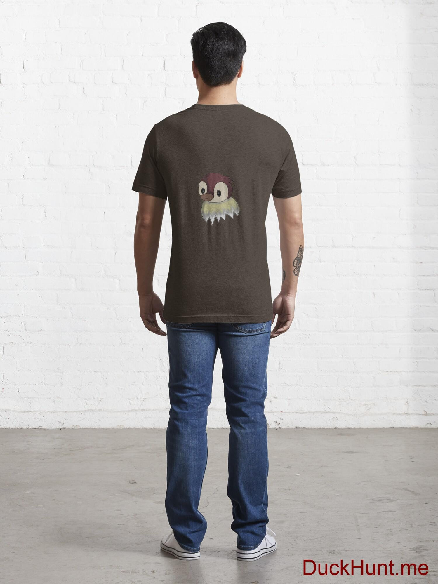 Ghost Duck (fogless) Brown Essential T-Shirt (Back printed) alternative image 3