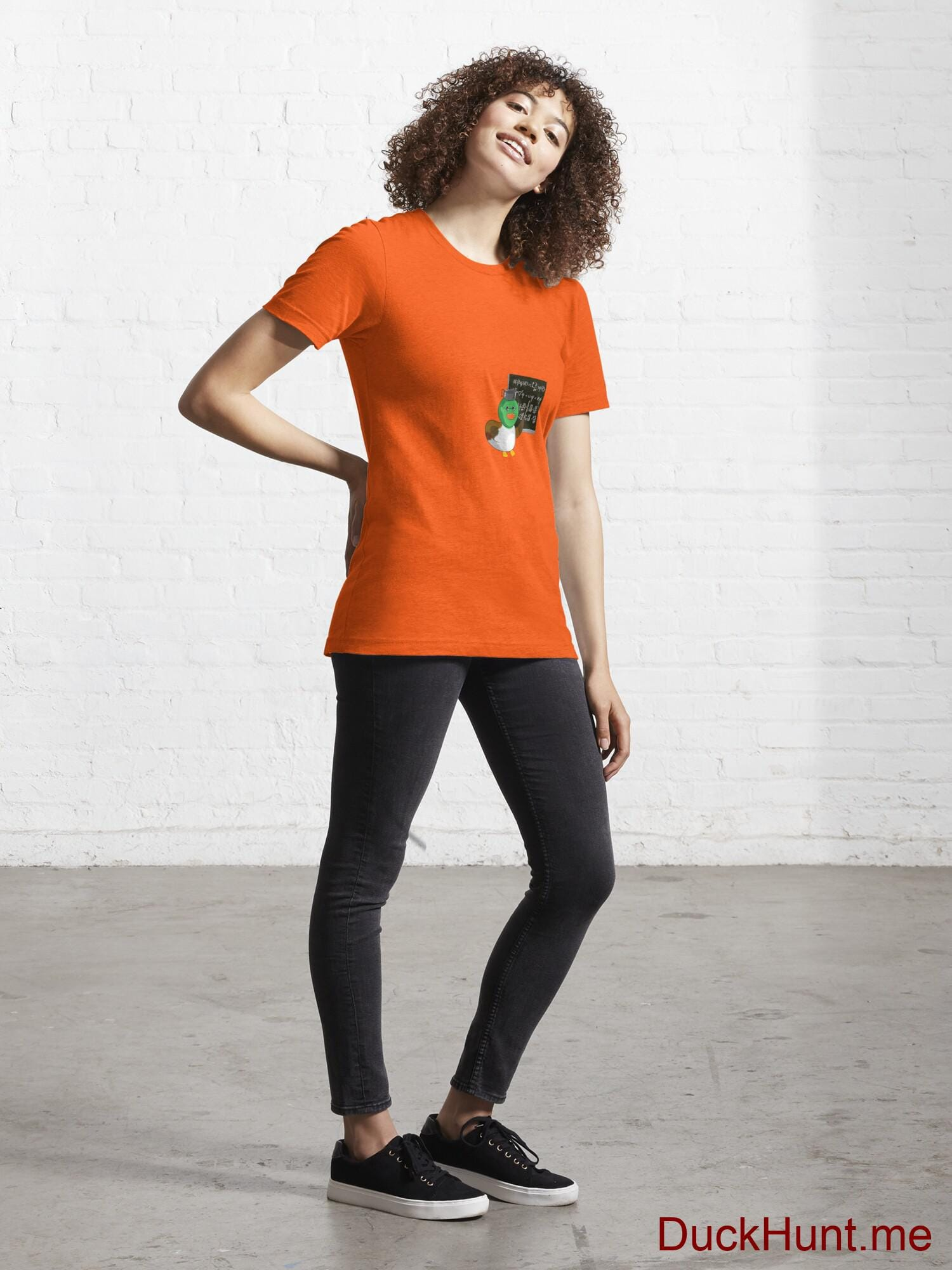 Prof Duck Orange Essential T-Shirt (Front printed) alternative image 3