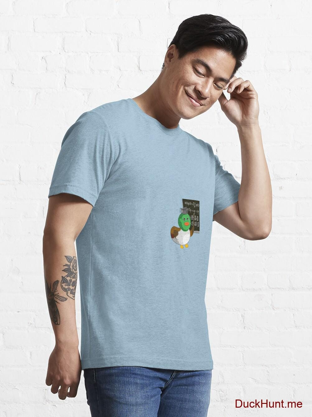Prof Duck Light Blue Essential T-Shirt (Front printed) alternative image 6