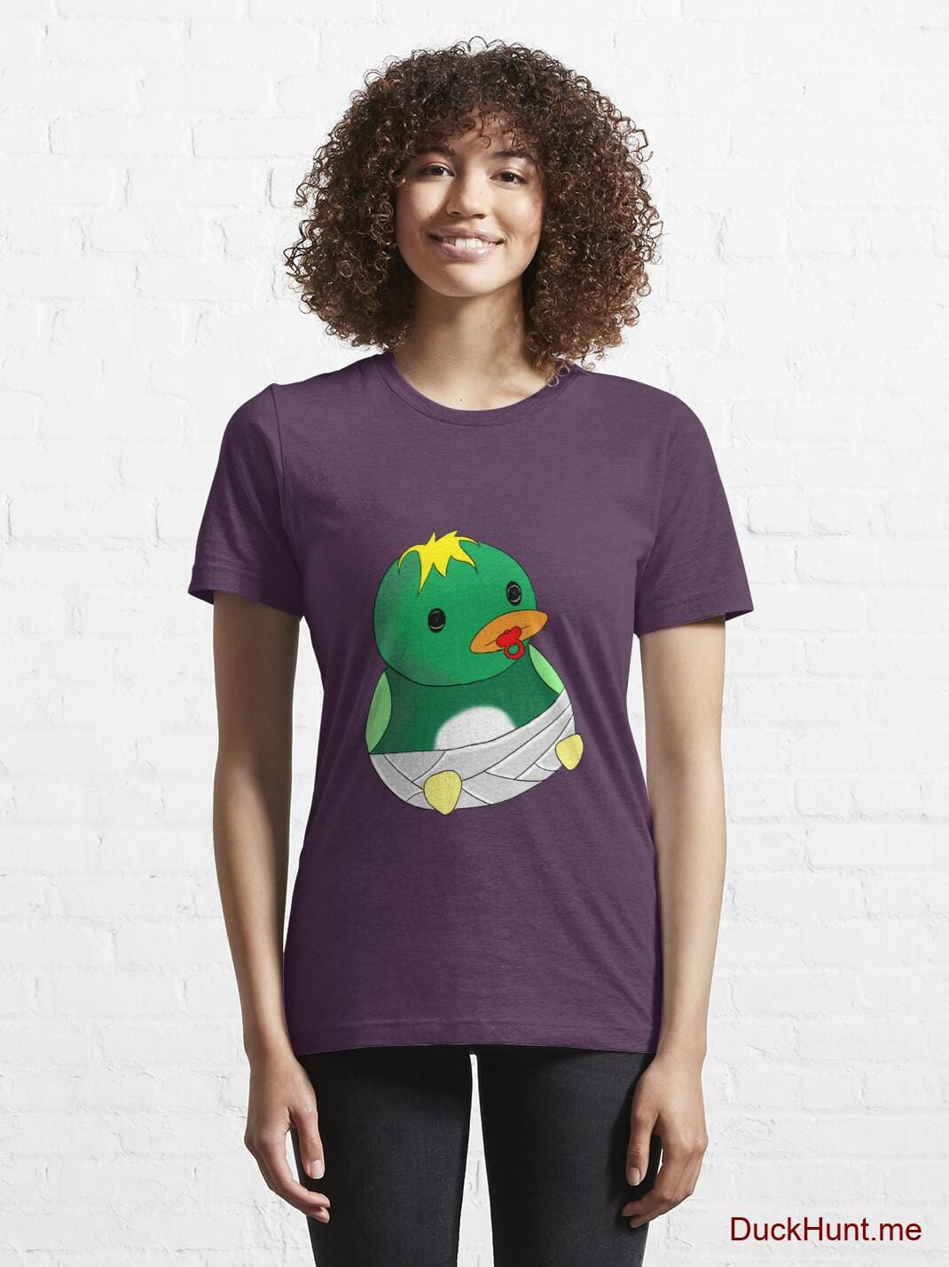 Baby duck Eggplant Essential T-Shirt (Front printed) alternative image 5