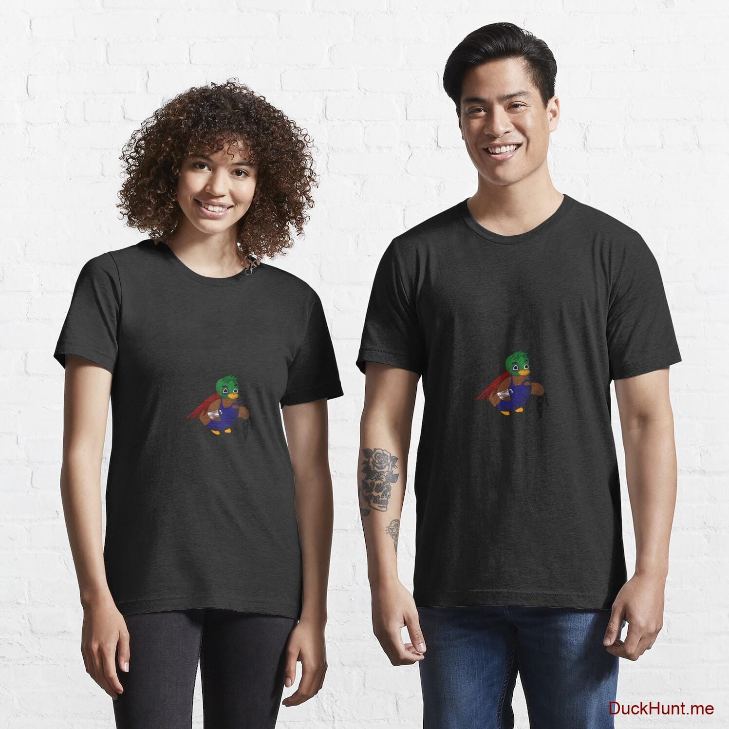 Dead DuckHunt Boss (smokeless) Black Essential T-Shirt (Front printed)