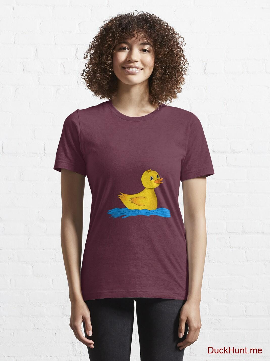 Plastic Duck Dark Red Essential T-Shirt (Front printed) alternative image 5