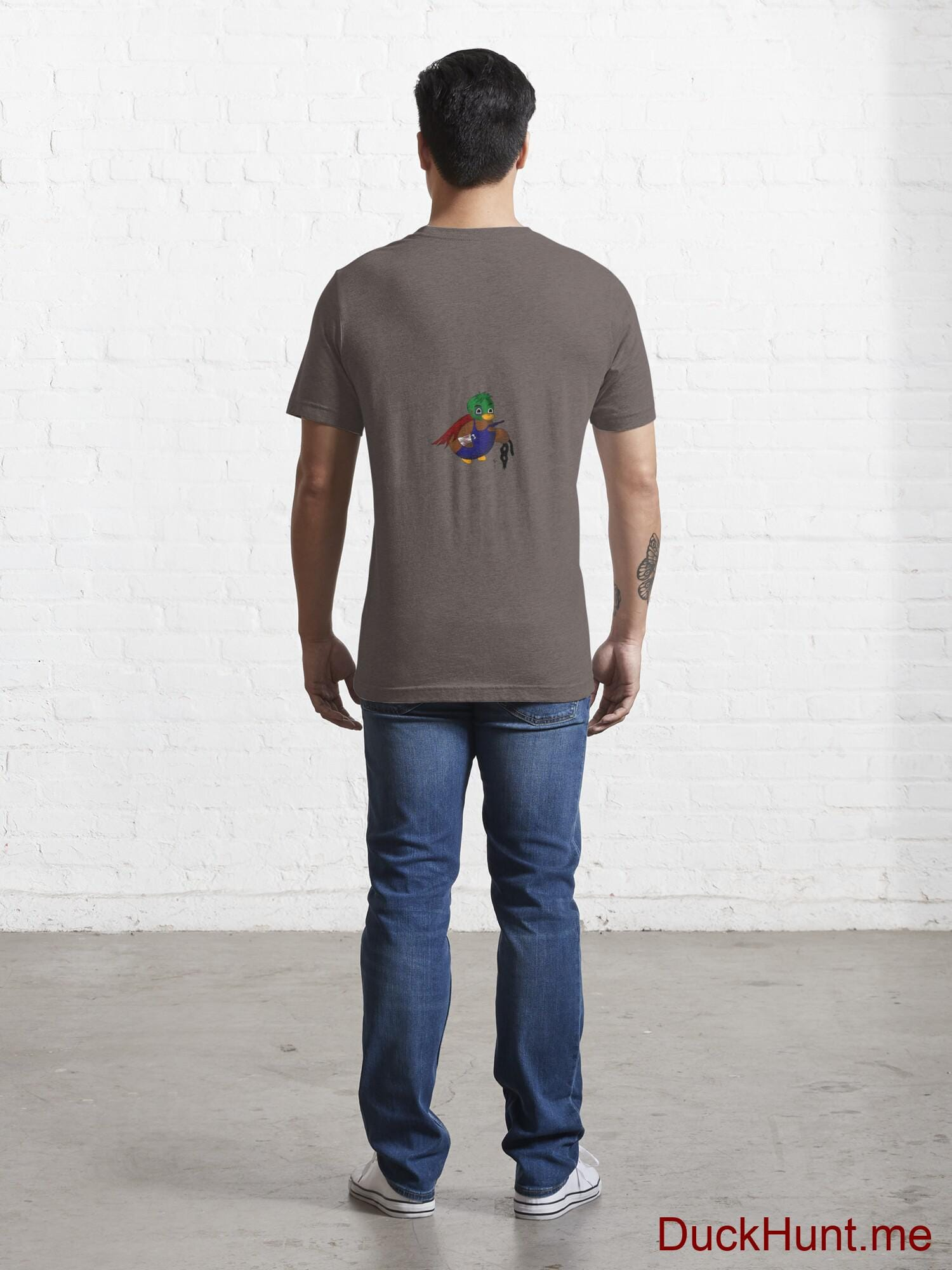 Dead DuckHunt Boss (smokeless) Dark Grey Essential T-Shirt (Back printed) alternative image 3