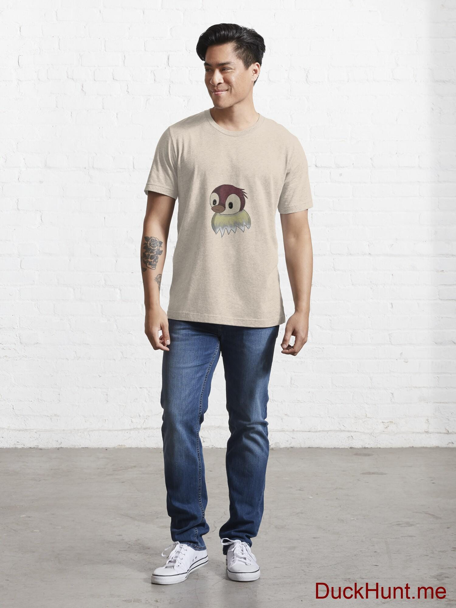 Ghost Duck (fogless) Creme Essential T-Shirt (Front printed) alternative image 4