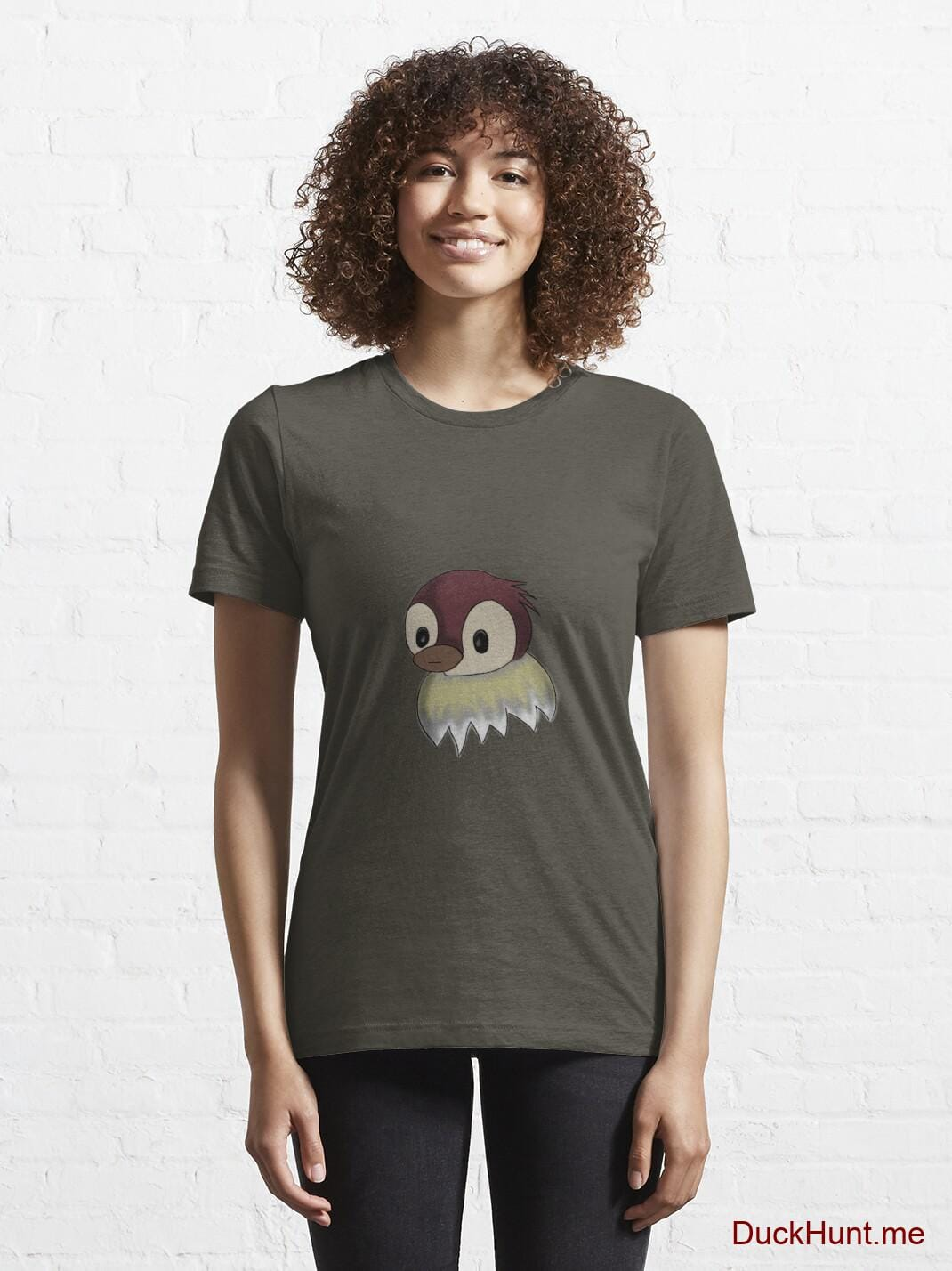 Ghost Duck (fogless) Army Essential T-Shirt (Front printed) alternative image 5