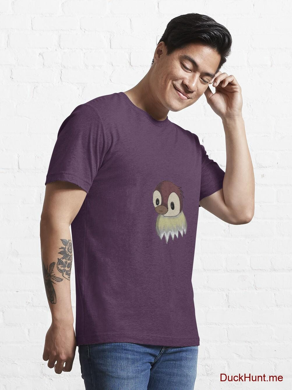 Ghost Duck (fogless) Eggplant Essential T-Shirt (Front printed) alternative image 6
