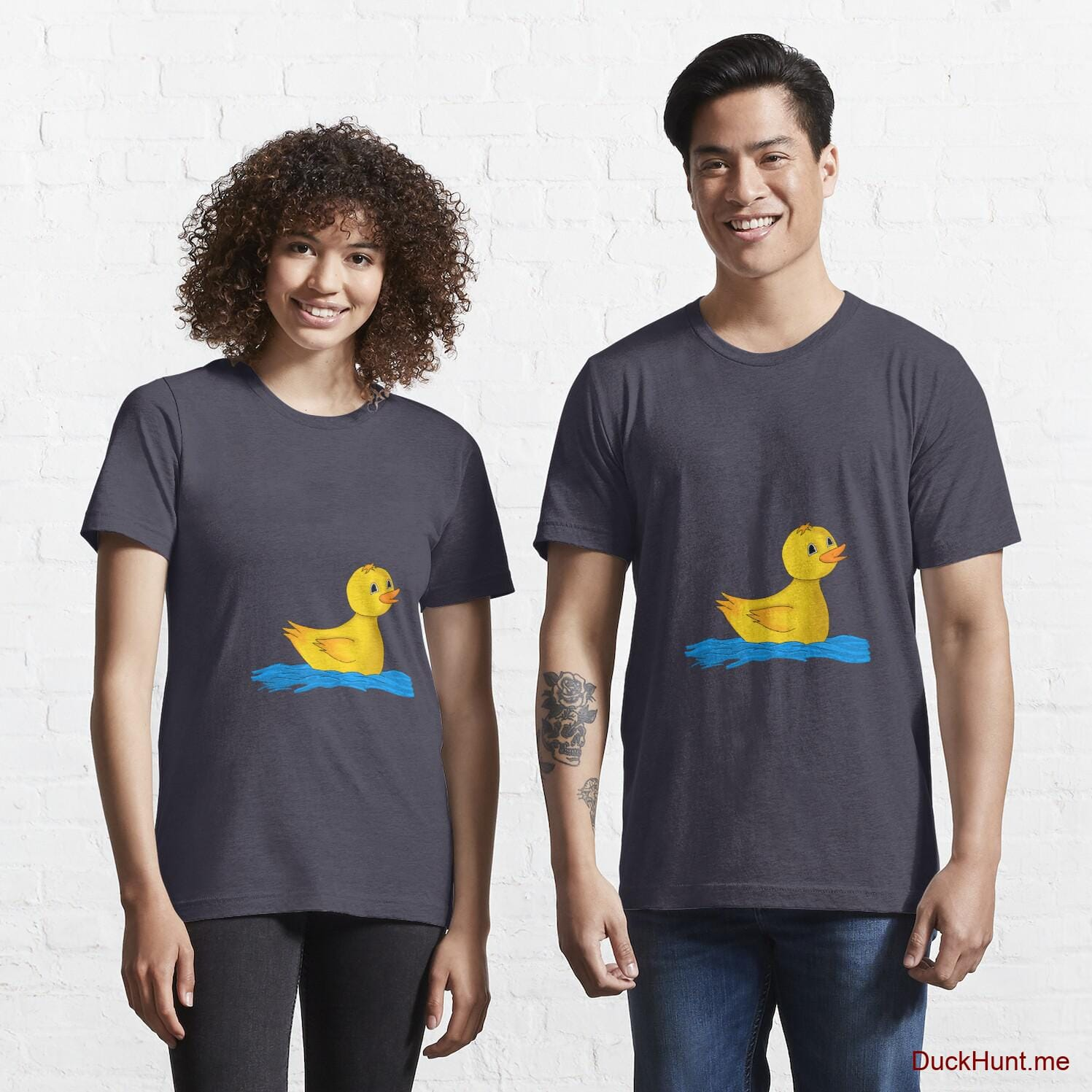 Plastic Duck Dark Blue Essential T-Shirt (Front printed)