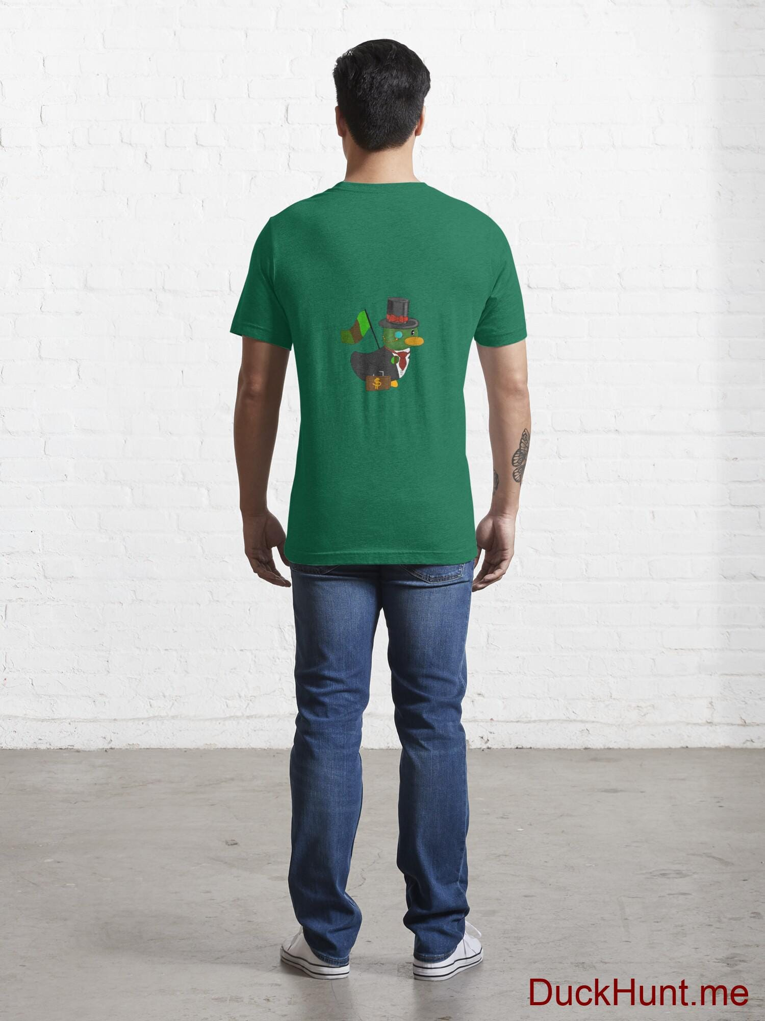 Golden Duck Green Essential T-Shirt (Back printed) alternative image 3
