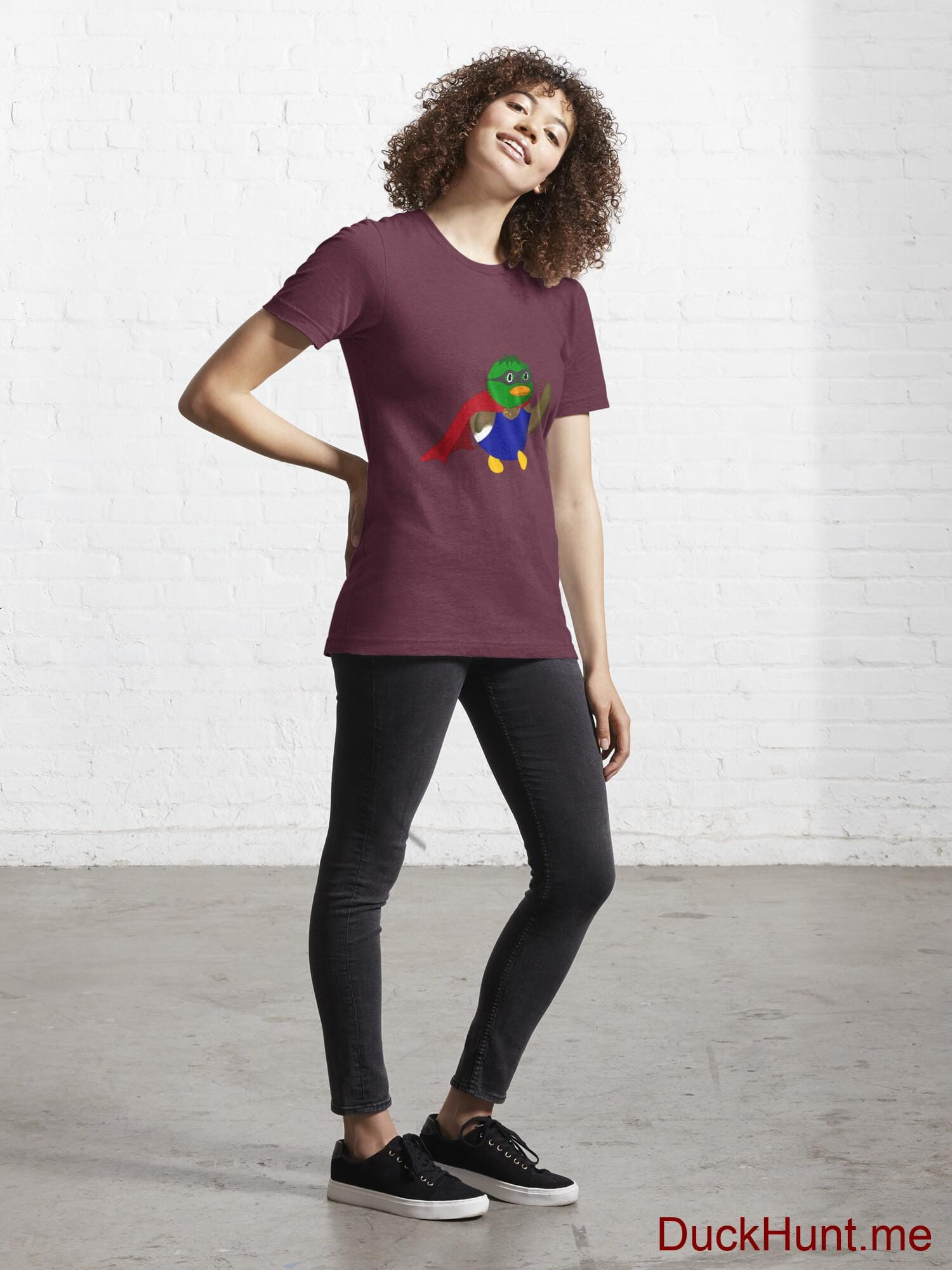 Alive Boss Duck Dark Red Essential T-Shirt (Front printed) alternative image 3
