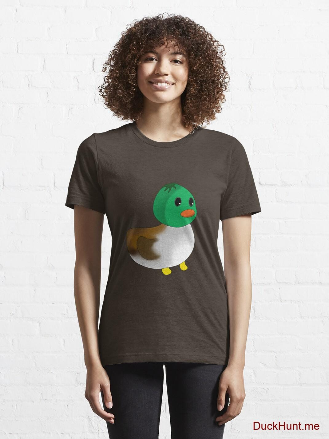 Normal Duck Brown Essential T-Shirt (Front printed) alternative image 5