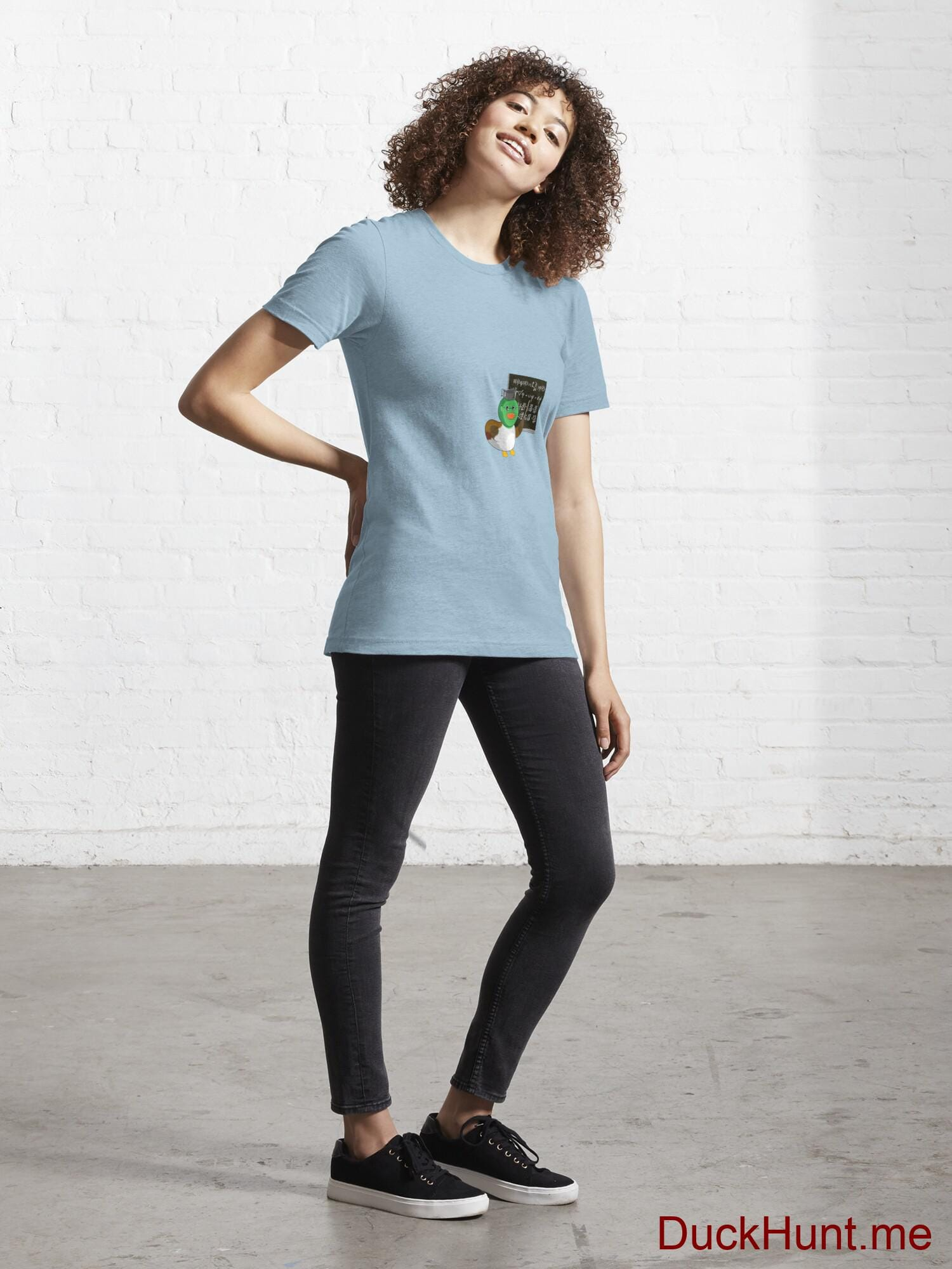 Prof Duck Light Blue Essential T-Shirt (Front printed) alternative image 3
