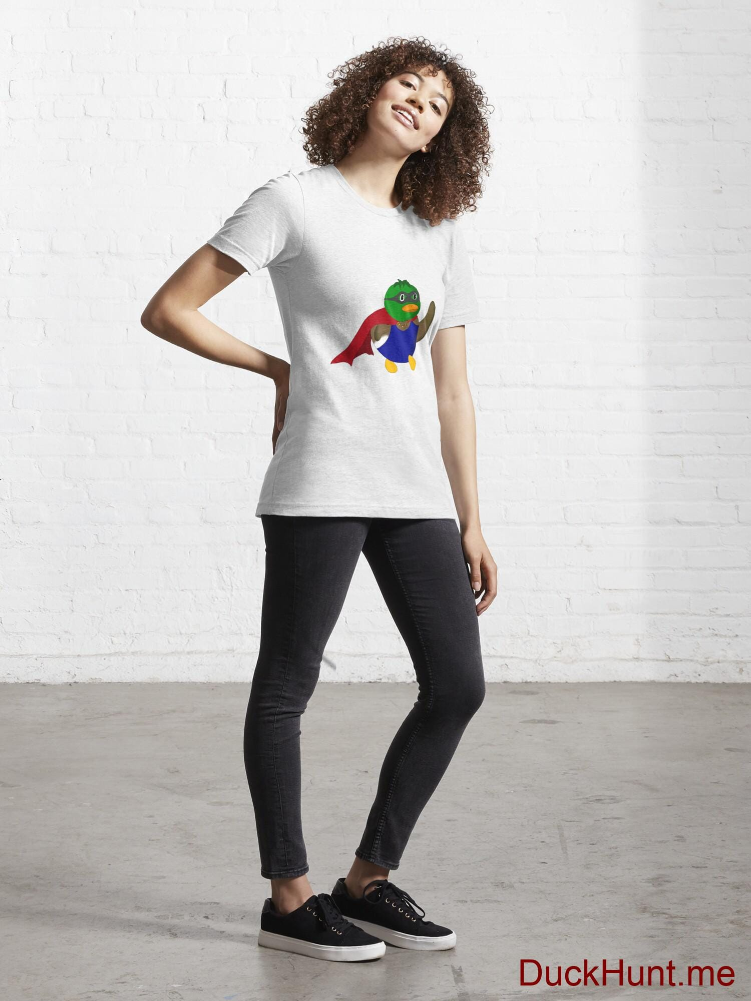 Alive Boss Duck White Essential T-Shirt (Front printed) alternative image 3