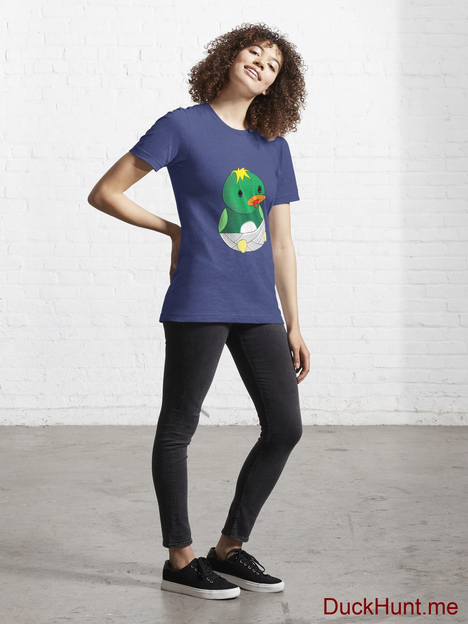 Baby duck Blue Essential T-Shirt (Front printed) alternative image 3