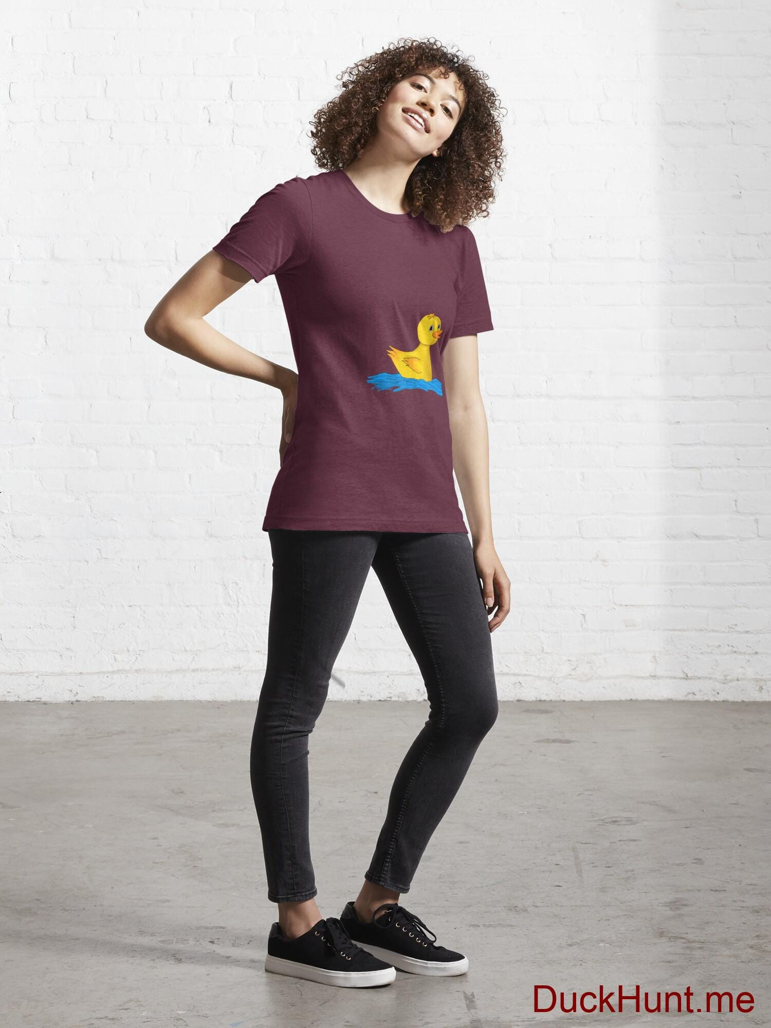 Plastic Duck Dark Red Essential T-Shirt (Front printed) alternative image 3