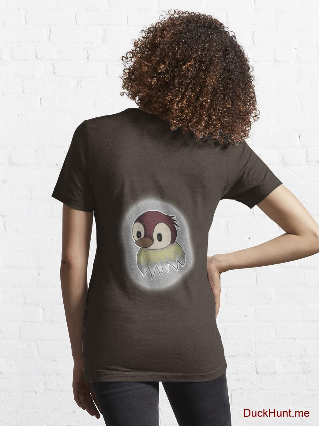 Ghost Duck (foggy) Brown Essential T-Shirt (Back printed) alternative image 4
