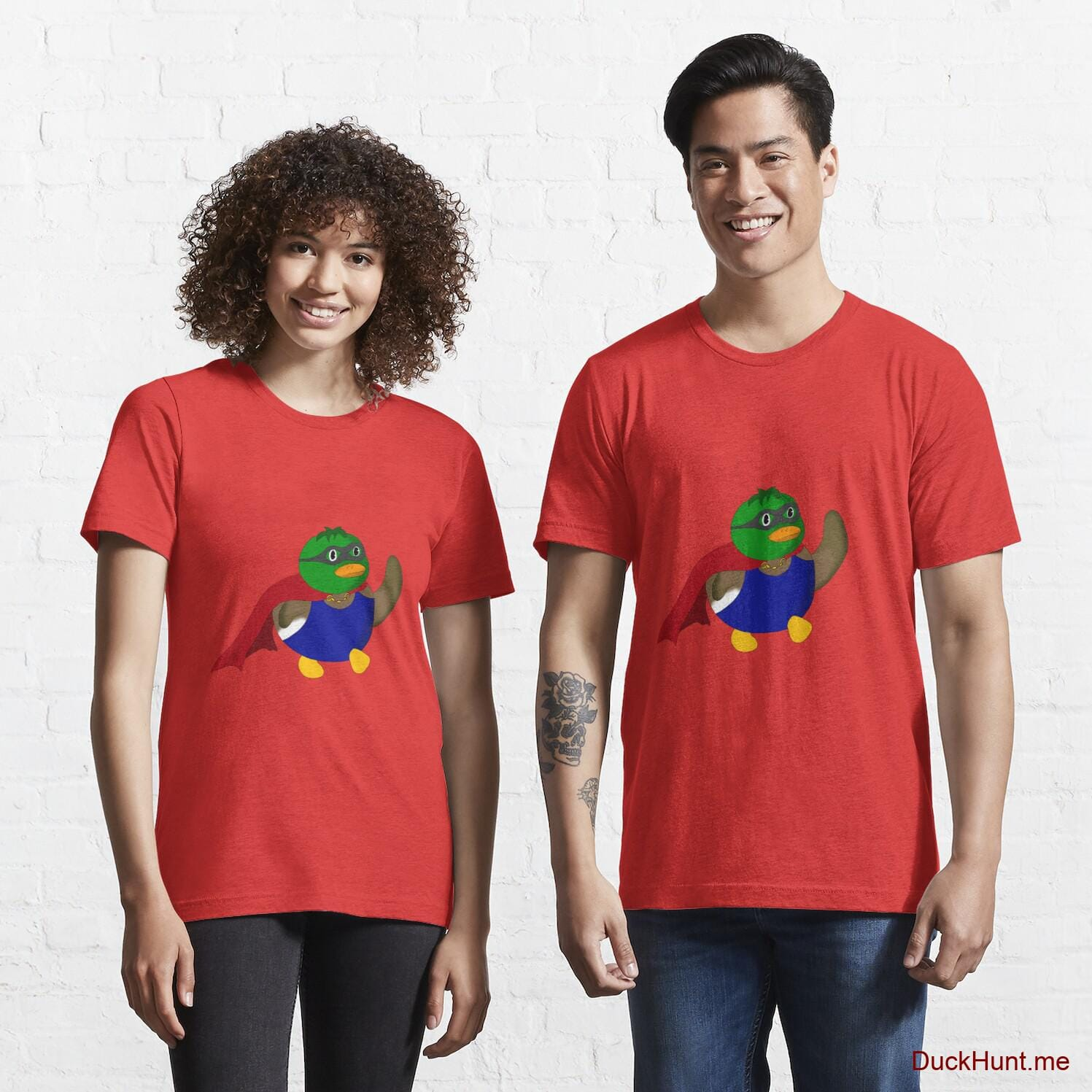 Alive Boss Duck Red Essential T-Shirt (Front printed)