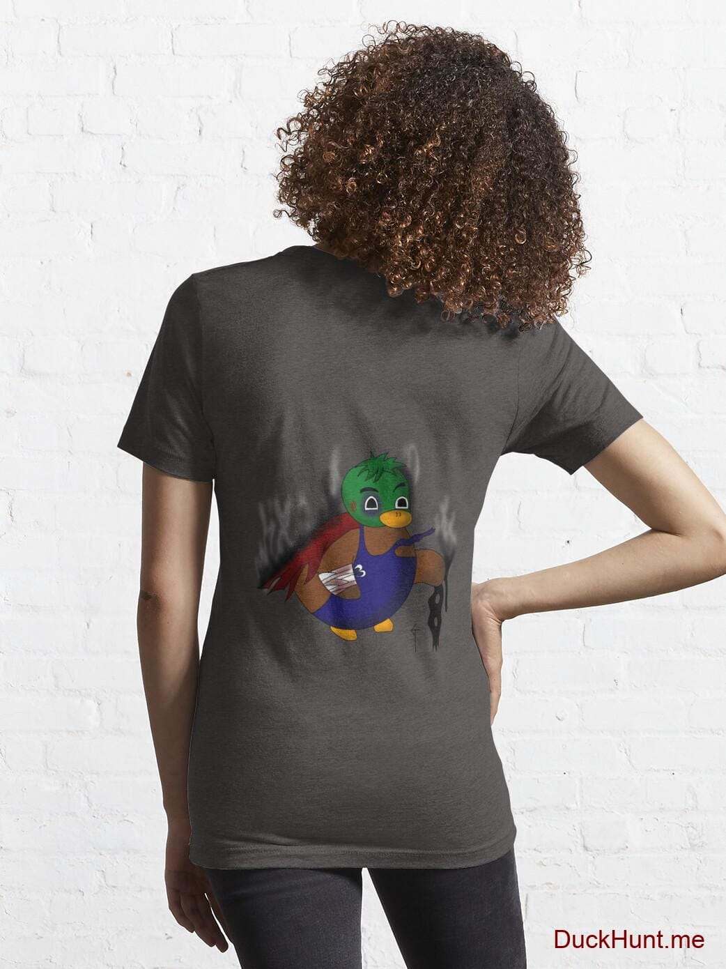 Dead Boss Duck (smoky) Charcoal Heather Essential T-Shirt (Back printed) alternative image 4