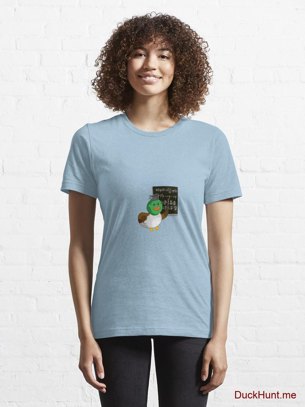 Prof Duck Light Blue Essential T-Shirt (Front printed) alternative image 5