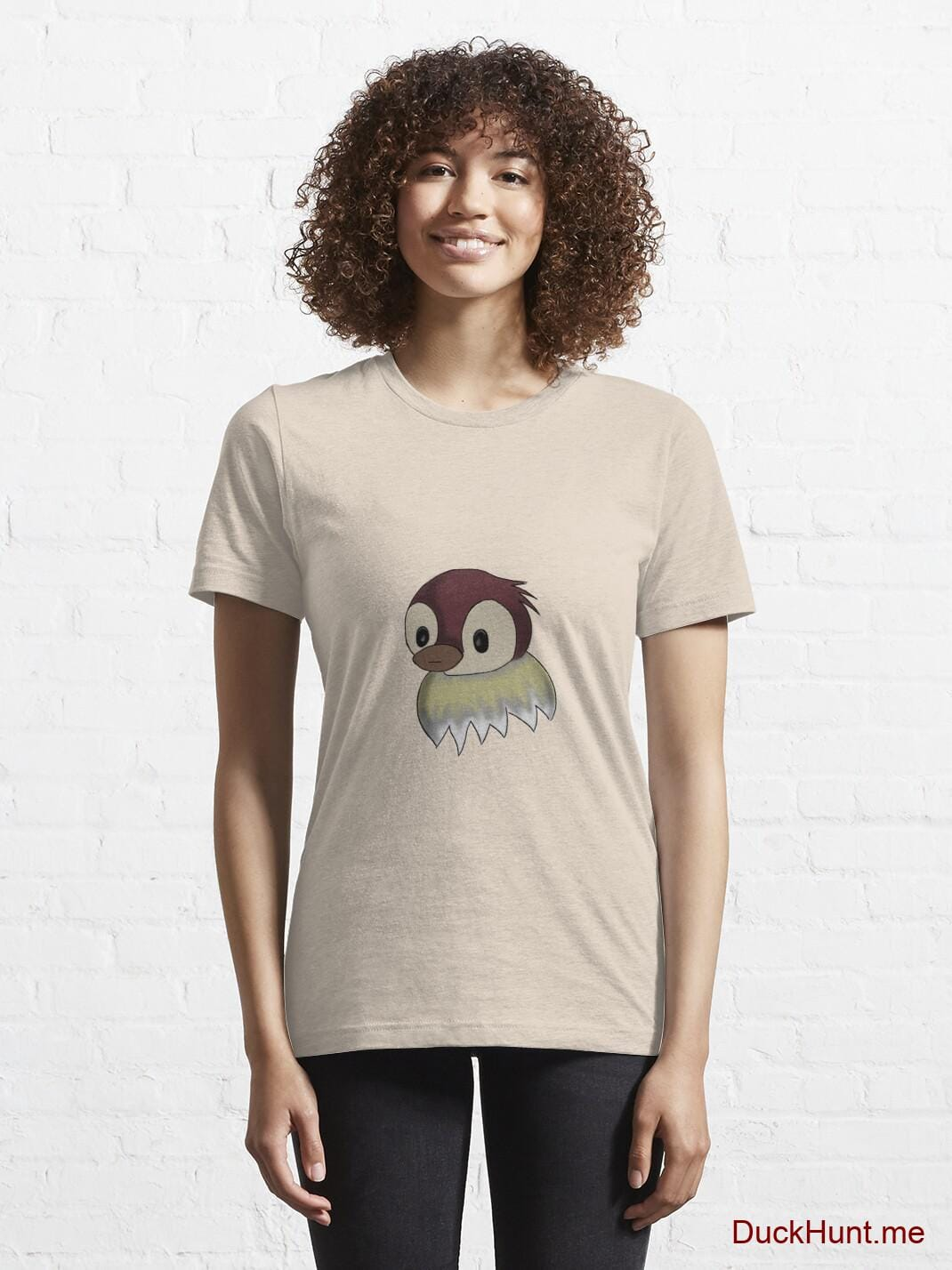 Ghost Duck (fogless) Creme Essential T-Shirt (Front printed) alternative image 5