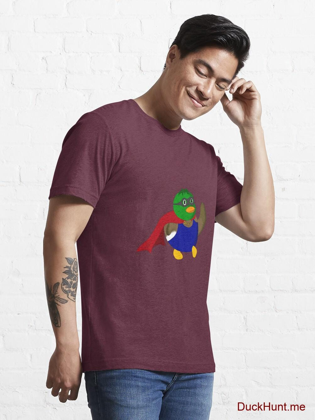 Alive Boss Duck Dark Red Essential T-Shirt (Front printed) alternative image 6
