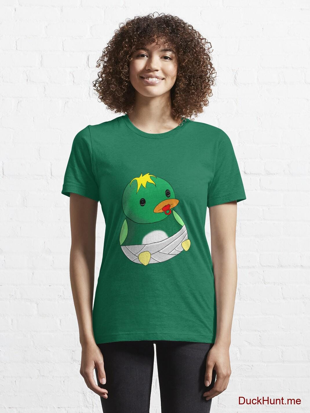 Baby duck Green Essential T-Shirt (Front printed) alternative image 5