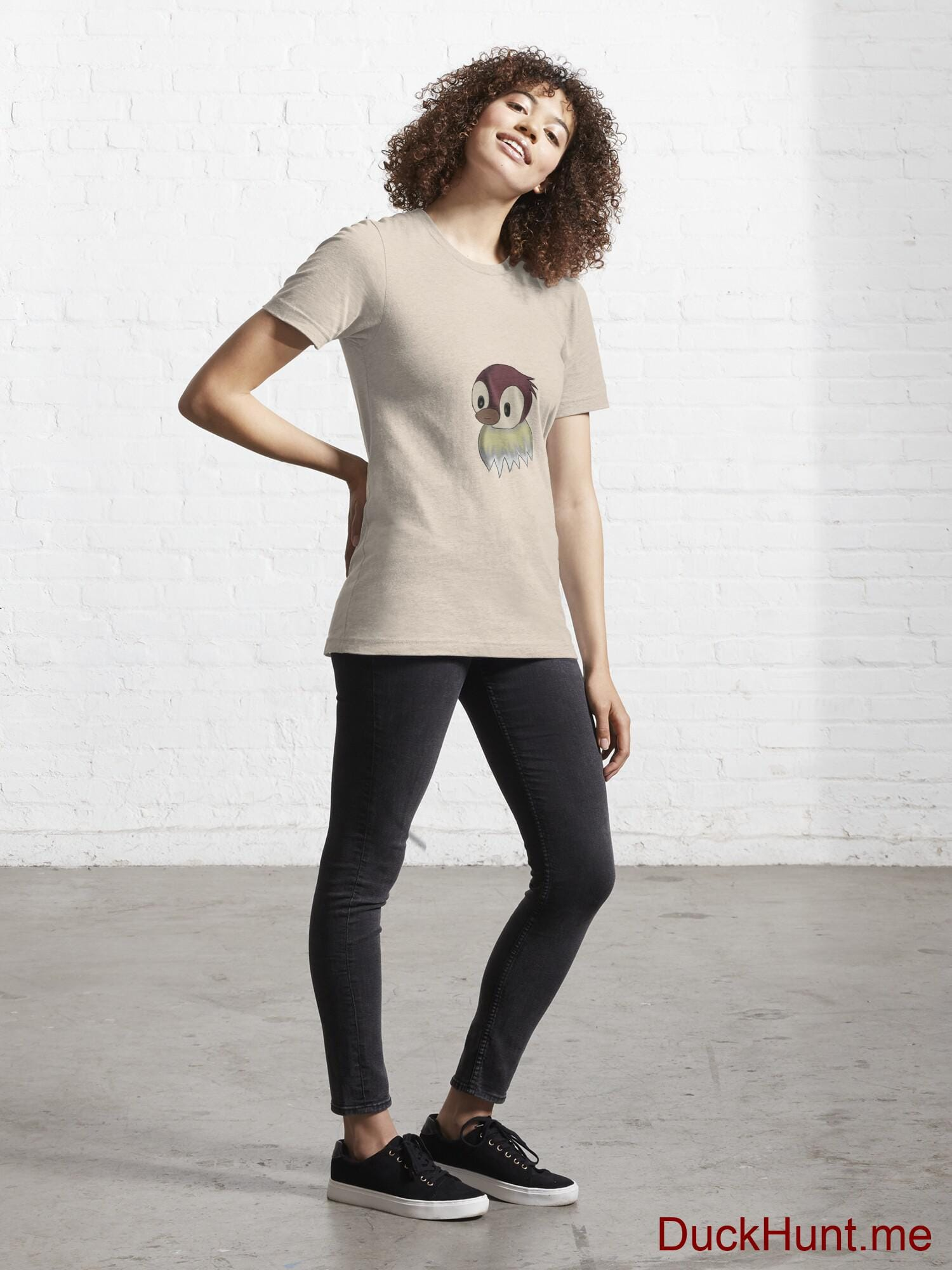 Ghost Duck (fogless) Creme Essential T-Shirt (Front printed) alternative image 3