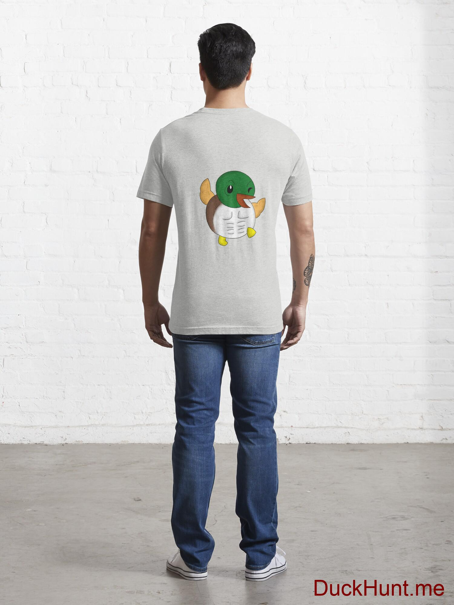 Super duck Light Grey Essential T-Shirt (Back printed) alternative image 3
