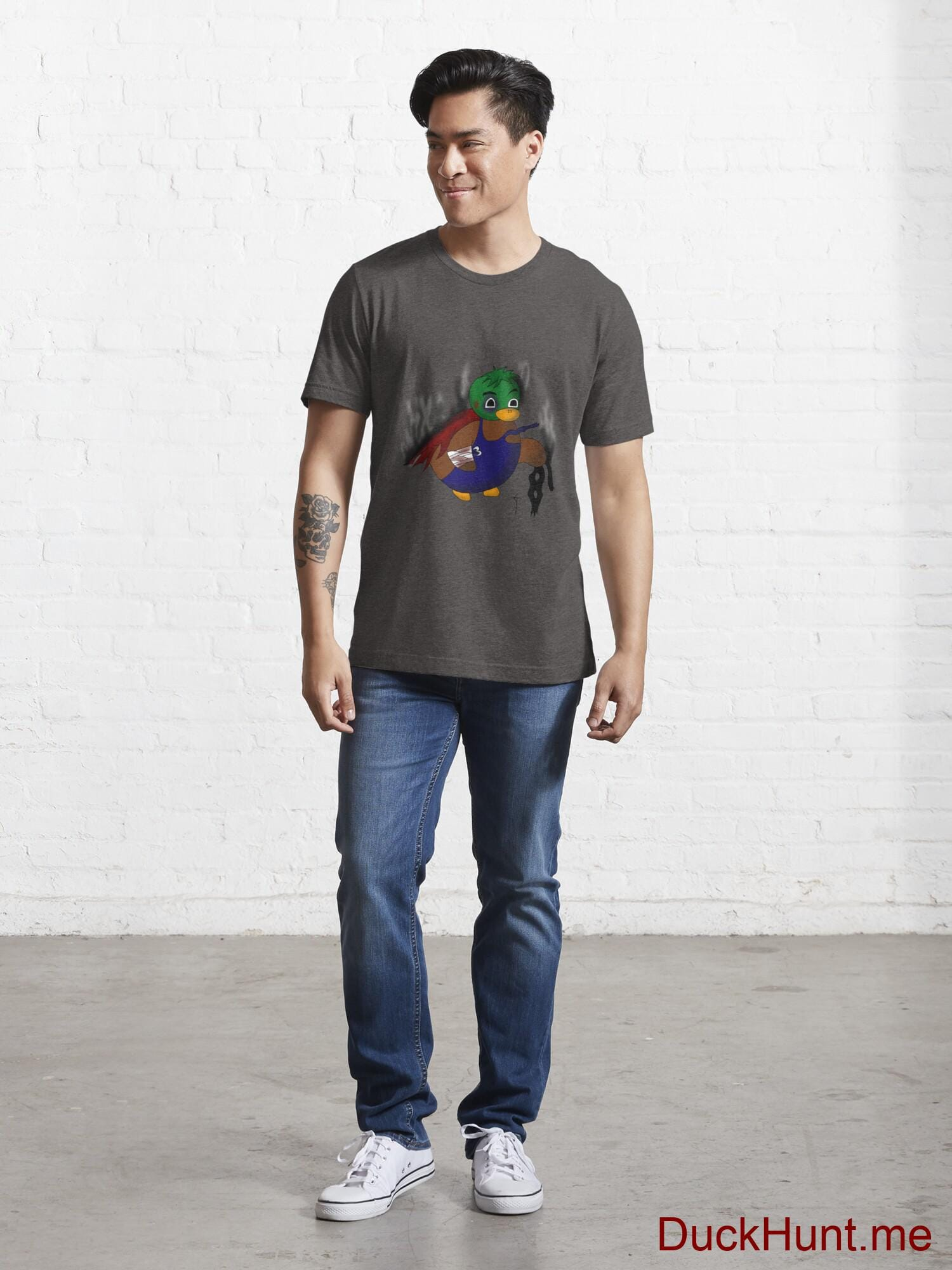Dead Boss Duck (smoky) Charcoal Heather Essential T-Shirt (Front printed) alternative image 4