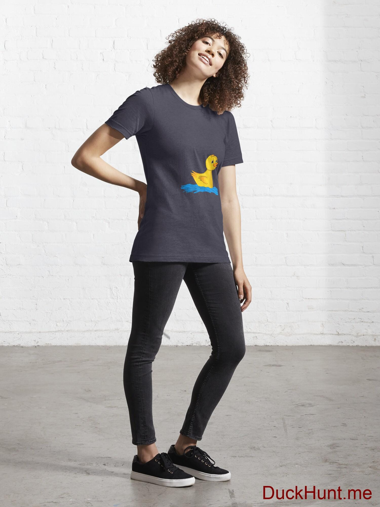 Plastic Duck Dark Blue Essential T-Shirt (Front printed) alternative image 3