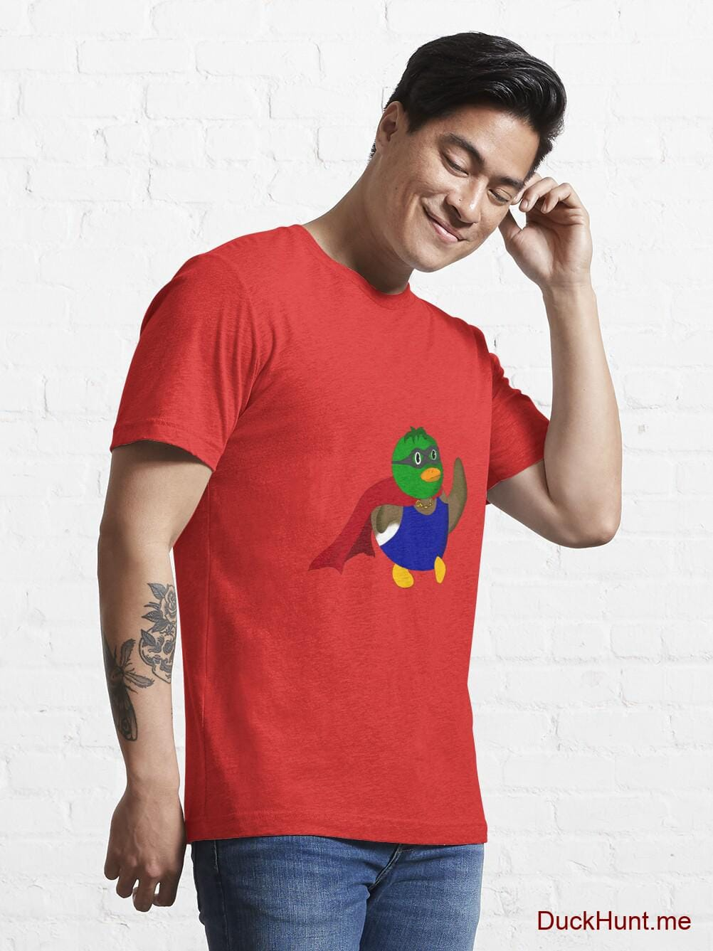Alive Boss Duck Red Essential T-Shirt (Front printed) alternative image 6
