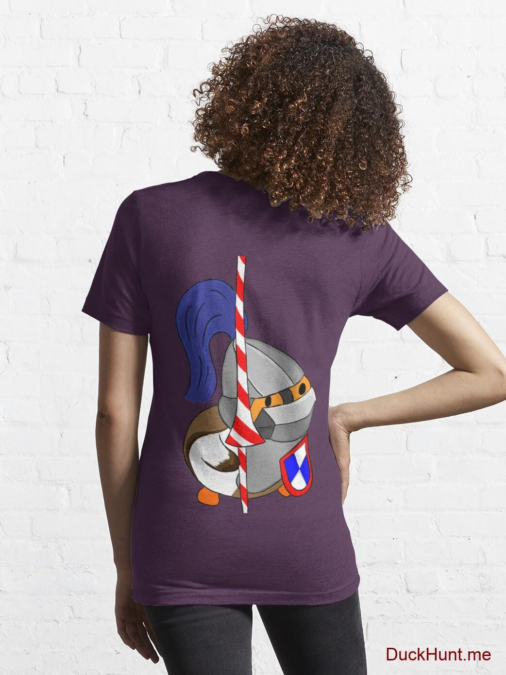 Armored Duck Eggplant Essential T-Shirt (Back printed) alternative image 4