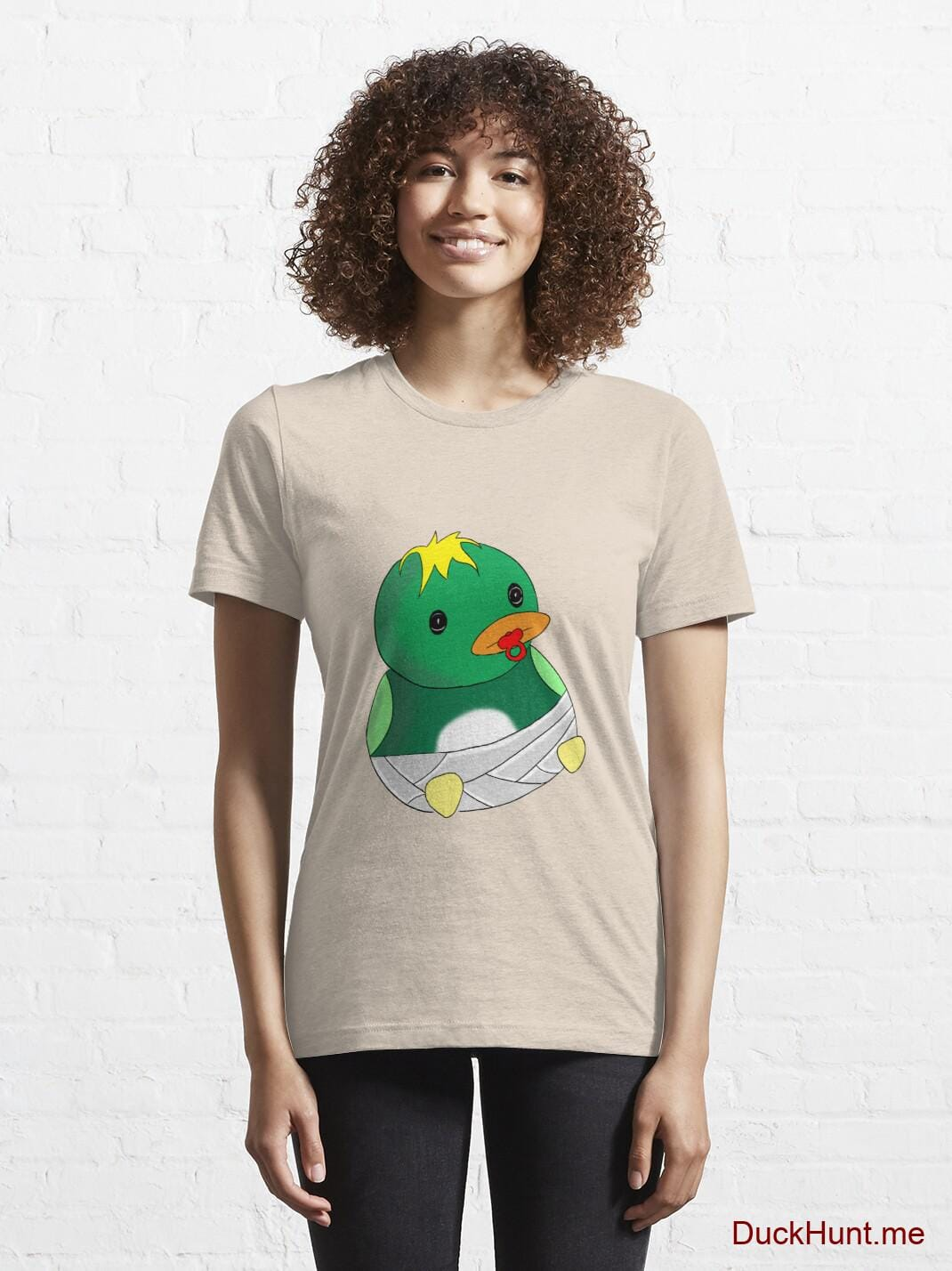 Baby duck Creme Essential T-Shirt (Front printed) alternative image 5