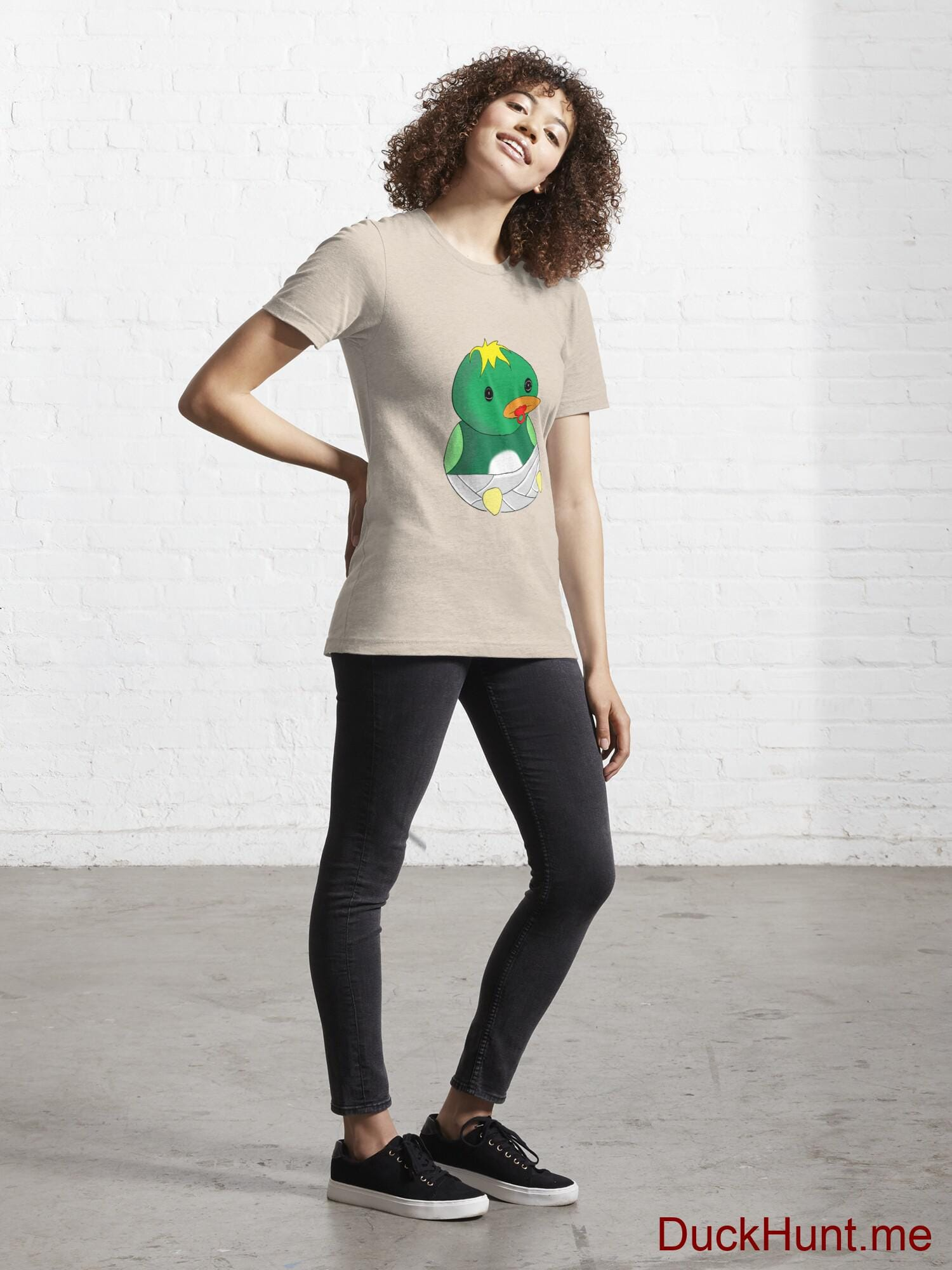 Baby duck Creme Essential T-Shirt (Front printed) alternative image 3