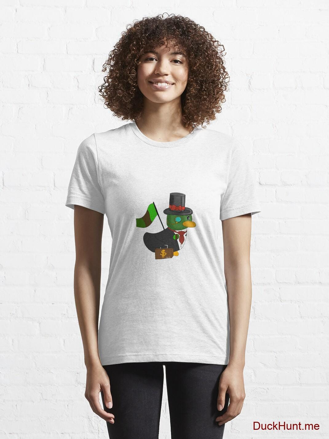 Golden Duck White Essential T-Shirt (Front printed) alternative image 5