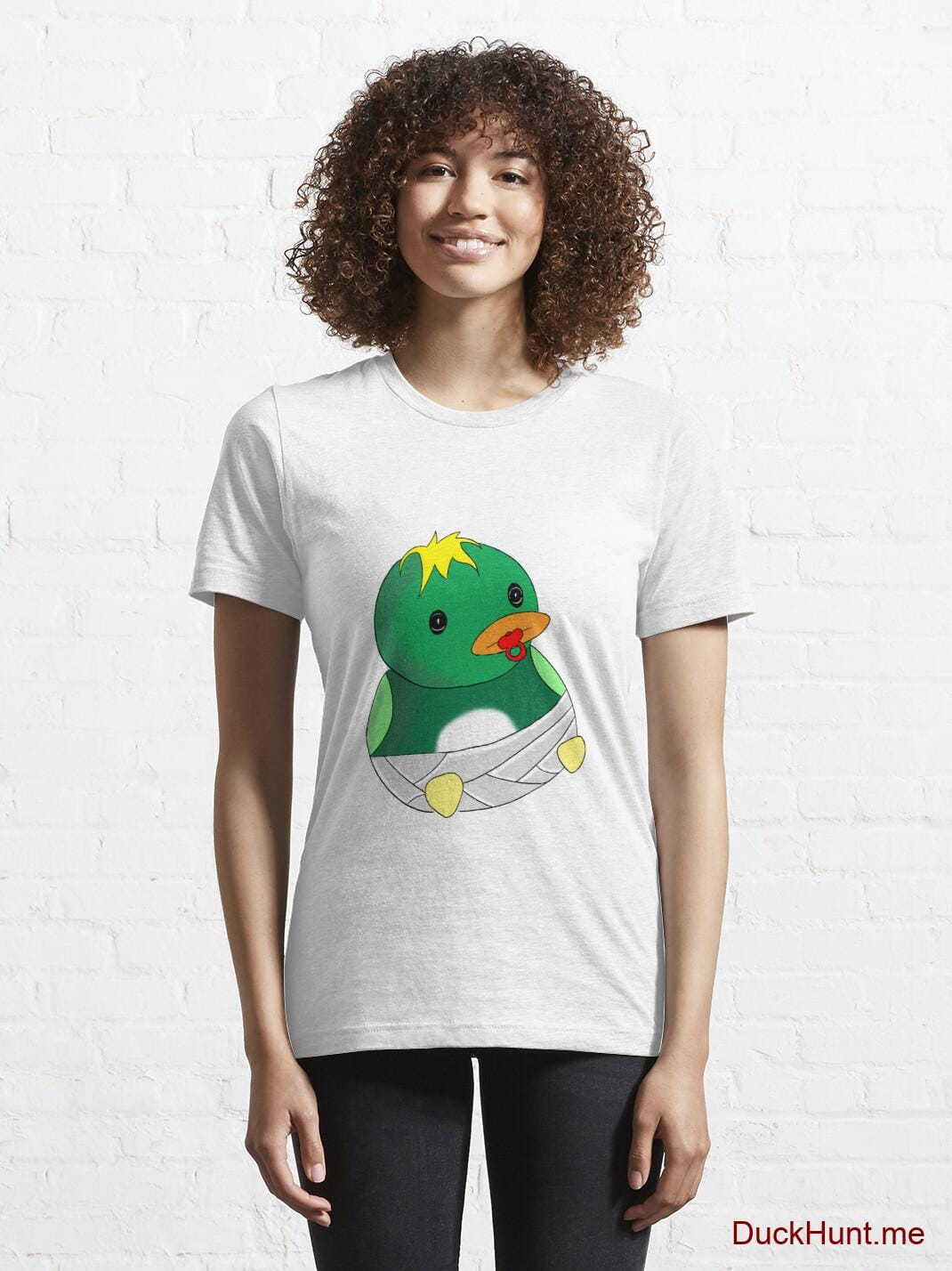 Baby duck White Essential T-Shirt (Front printed) alternative image 5