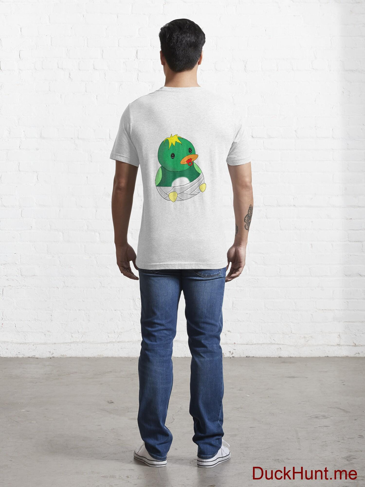 Baby duck White Essential T-Shirt (Back printed) alternative image 3