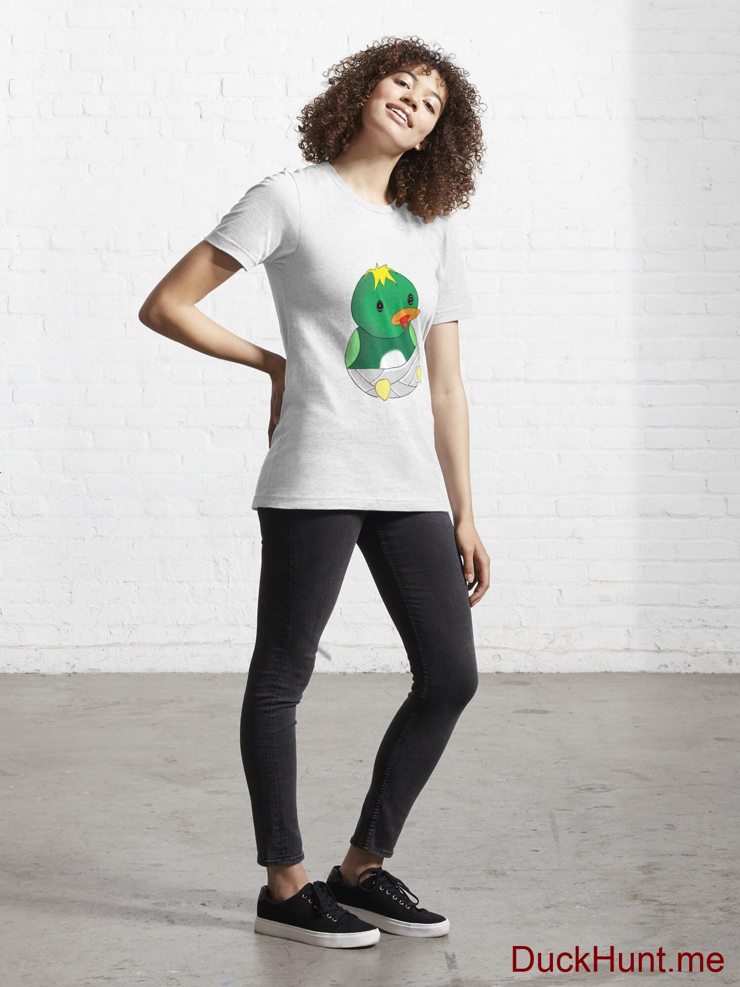 Baby duck White Essential T-Shirt (Front printed) alternative image 3