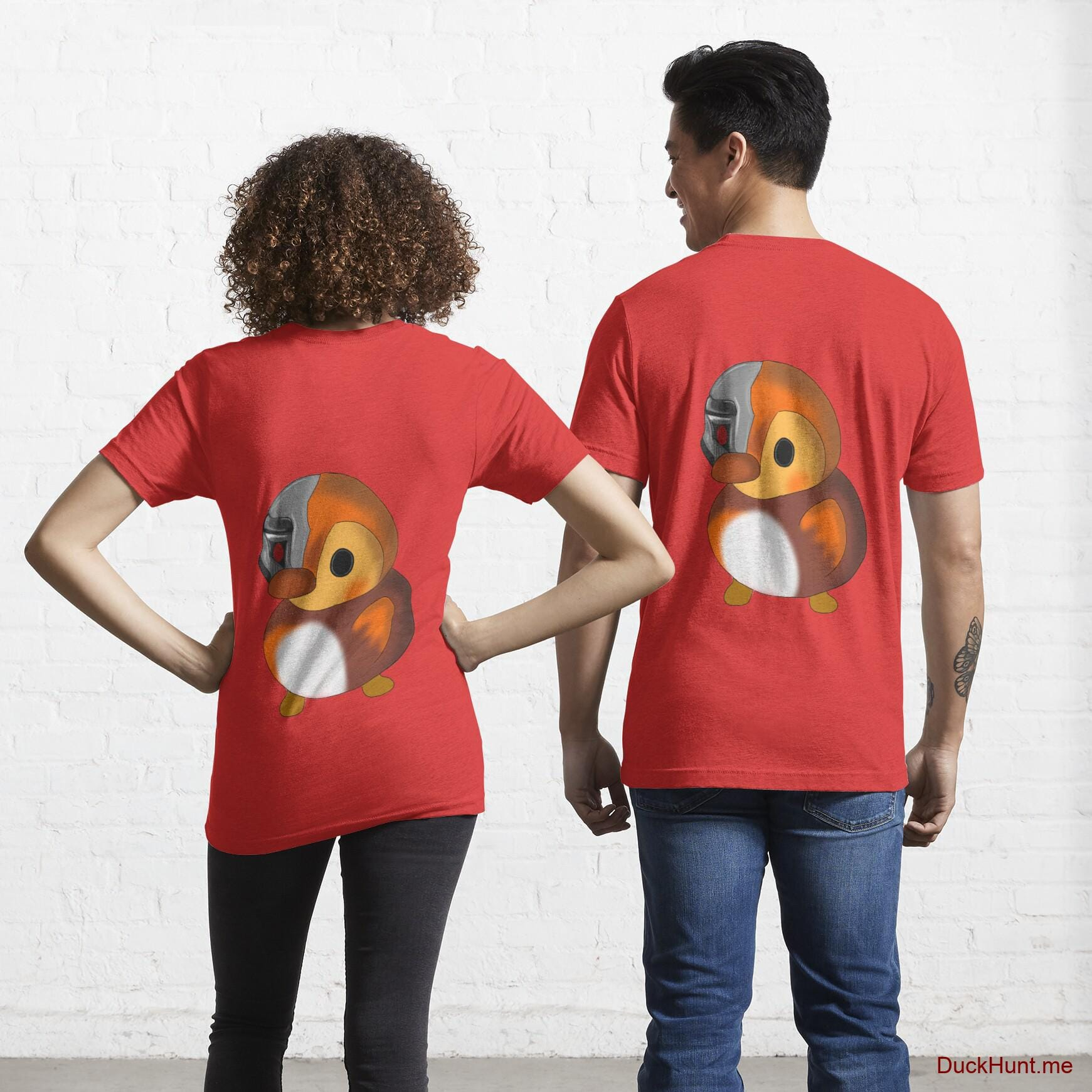 Mechanical Duck Red Essential T-Shirt (Back printed)