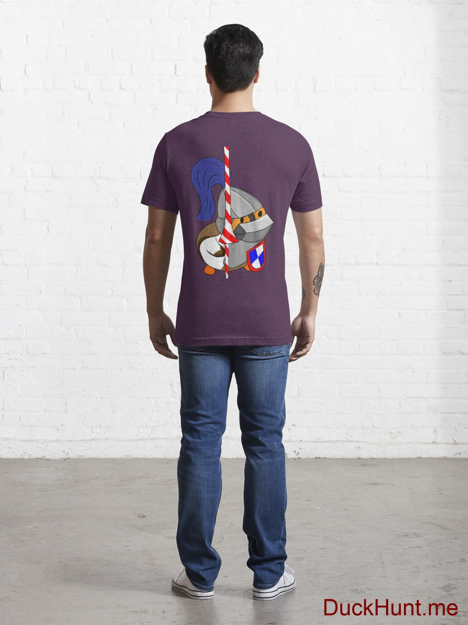 Armored Duck Eggplant Essential T-Shirt (Back printed) alternative image 3
