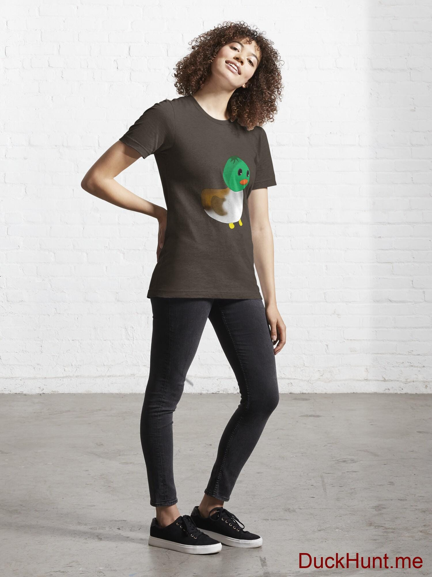 Normal Duck Brown Essential T-Shirt (Front printed) alternative image 3