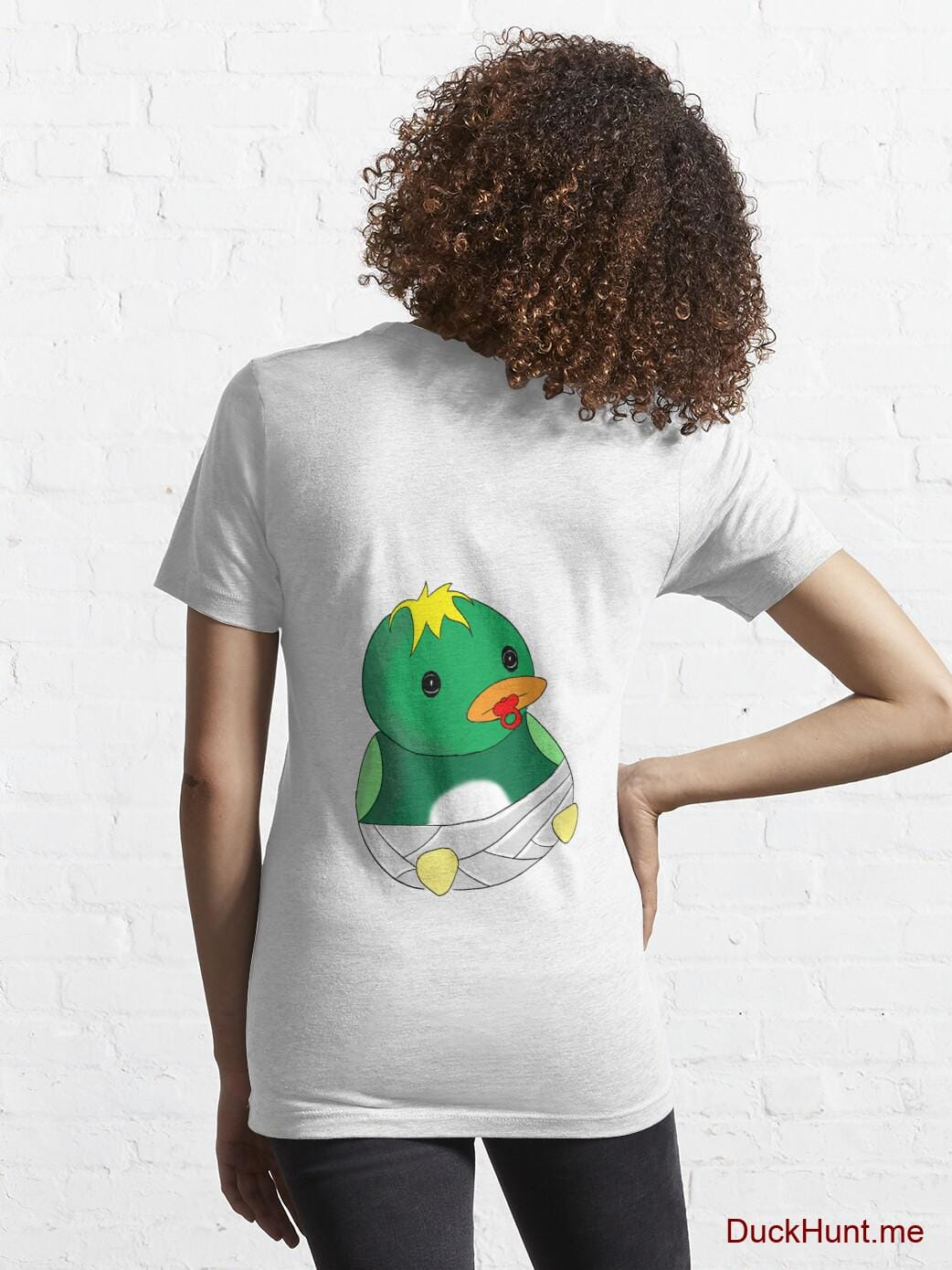 Baby duck White Essential T-Shirt (Back printed) alternative image 4