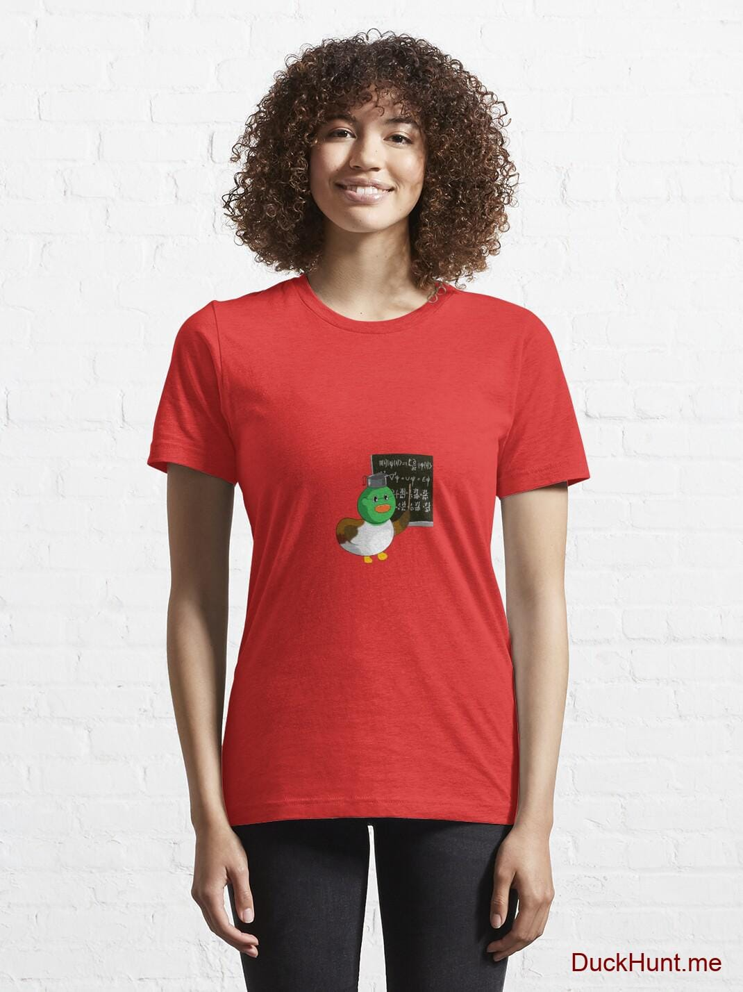 Prof Duck Red Essential T-Shirt (Front printed) alternative image 5