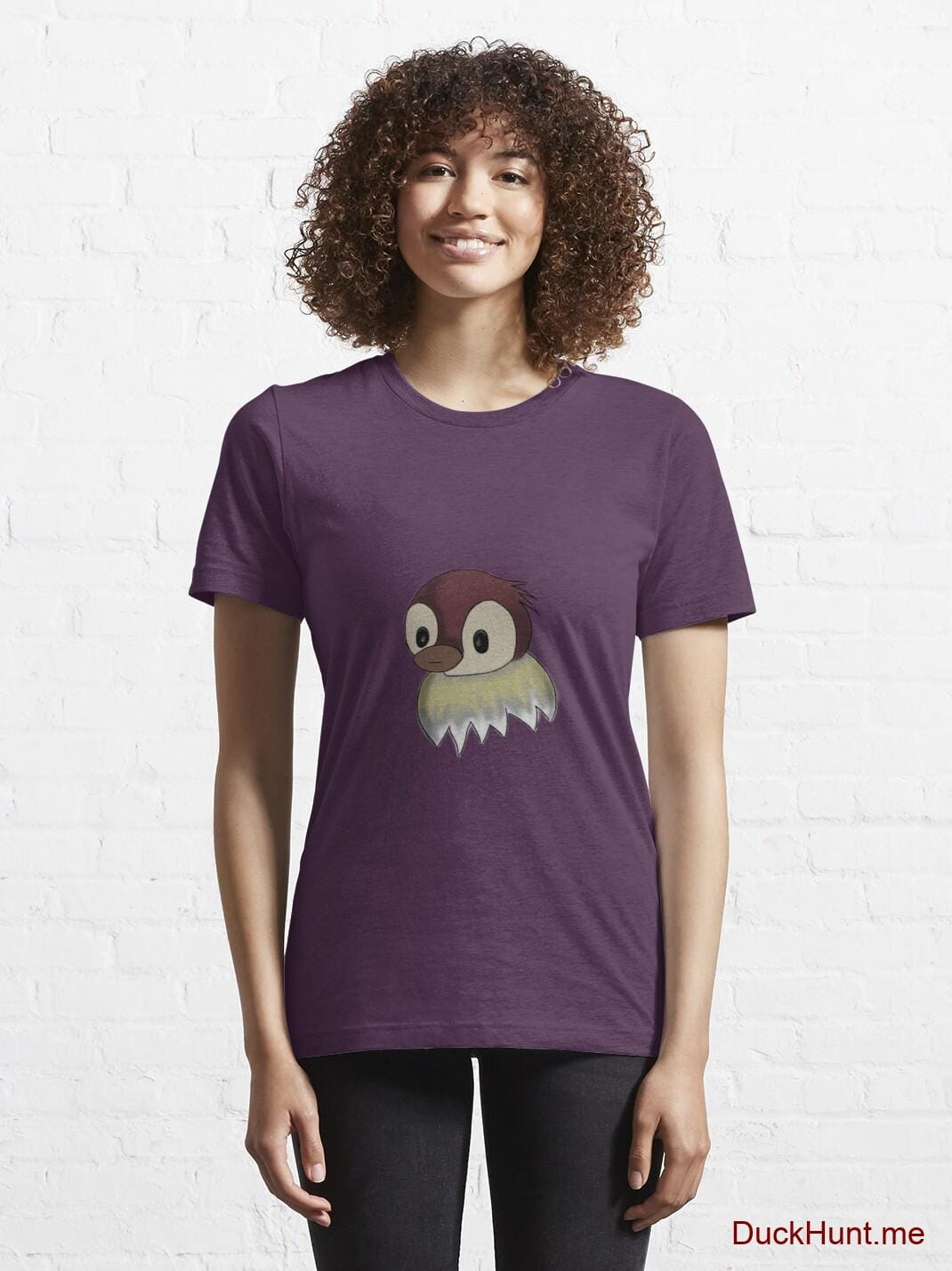 Ghost Duck (fogless) Eggplant Essential T-Shirt (Front printed) alternative image 5