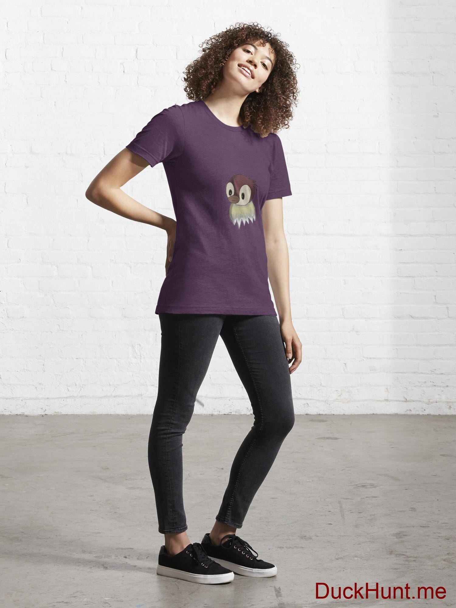 Ghost Duck (fogless) Eggplant Essential T-Shirt (Front printed) alternative image 3