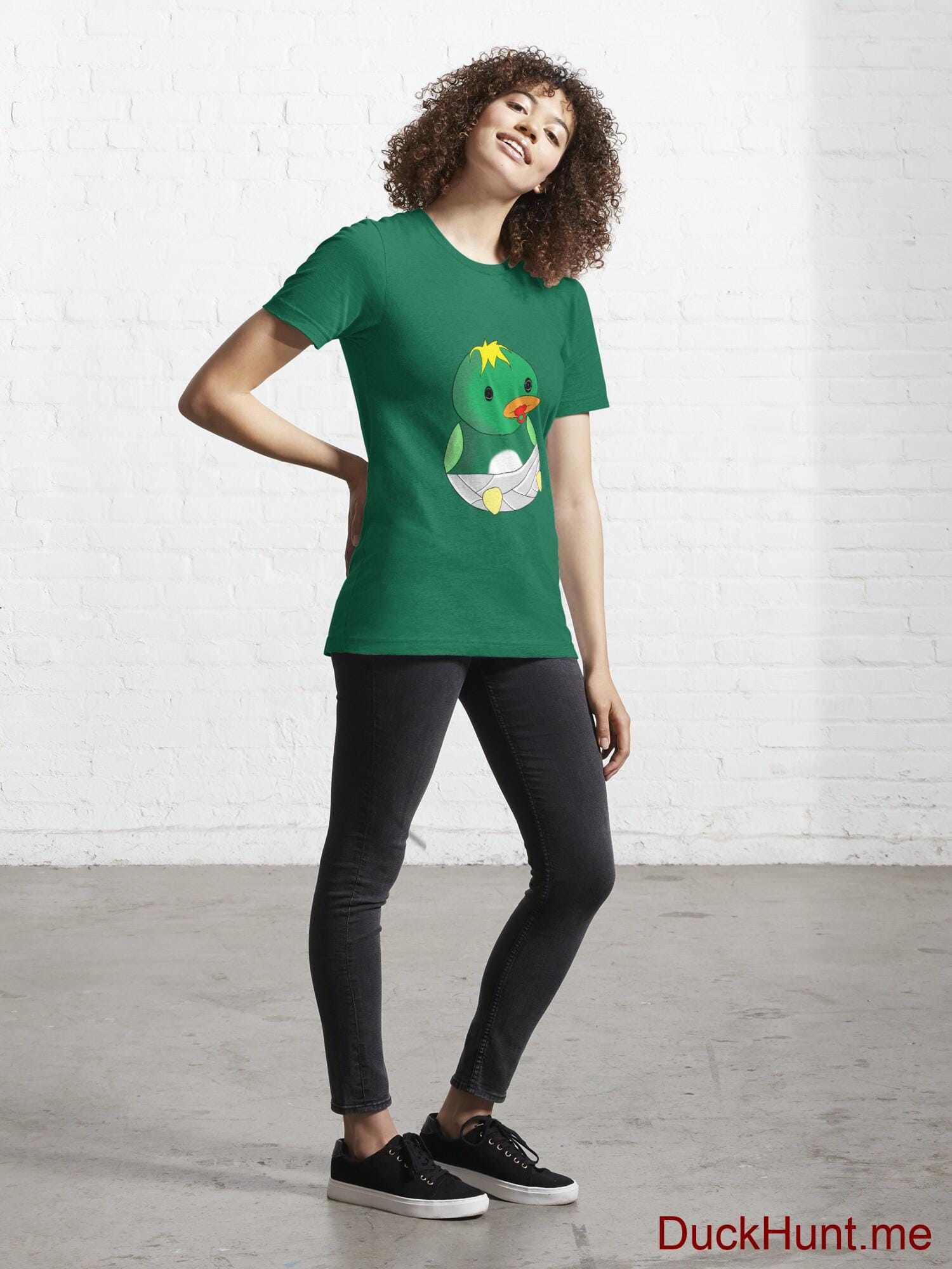 Baby duck Green Essential T-Shirt (Front printed) alternative image 3